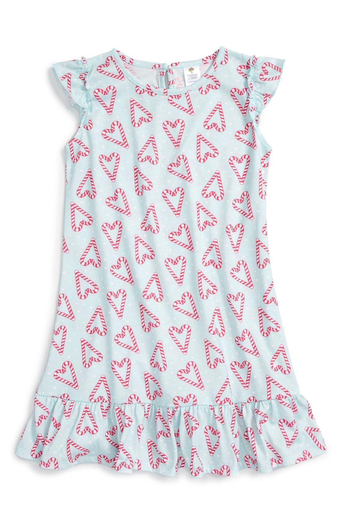 Ruffle Nightgown,                             Main thumbnail 4, color,