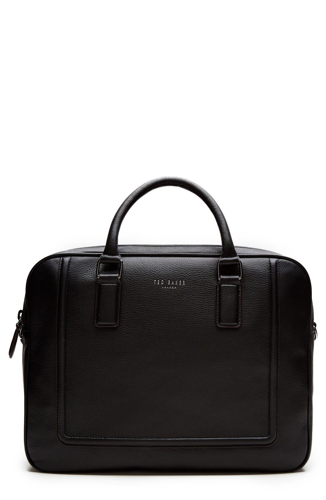 'Ragna' Leather Bowler Bag, Main, color, 001