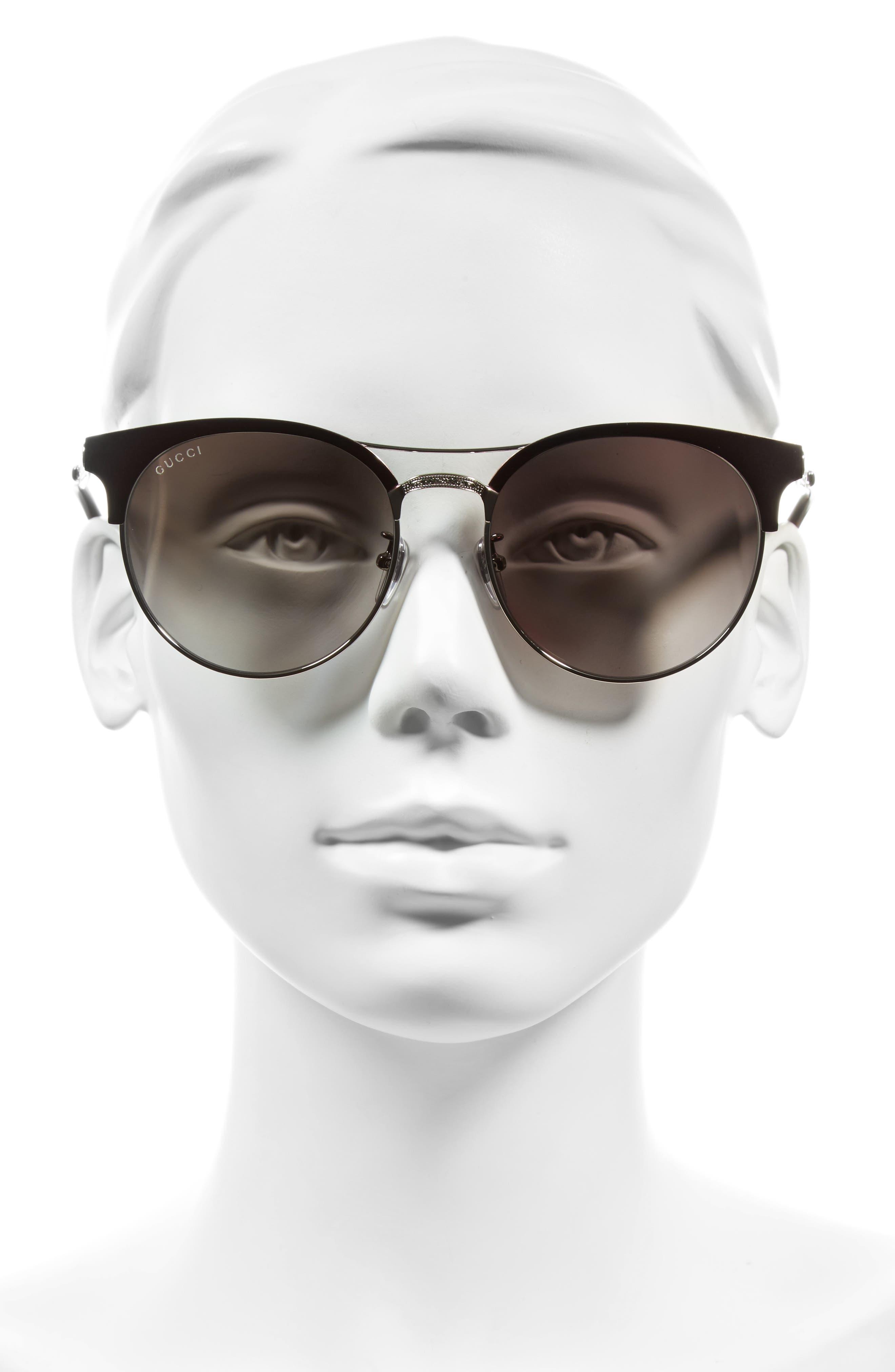56mm Retro Sunglasses,                             Alternate thumbnail 6, color,