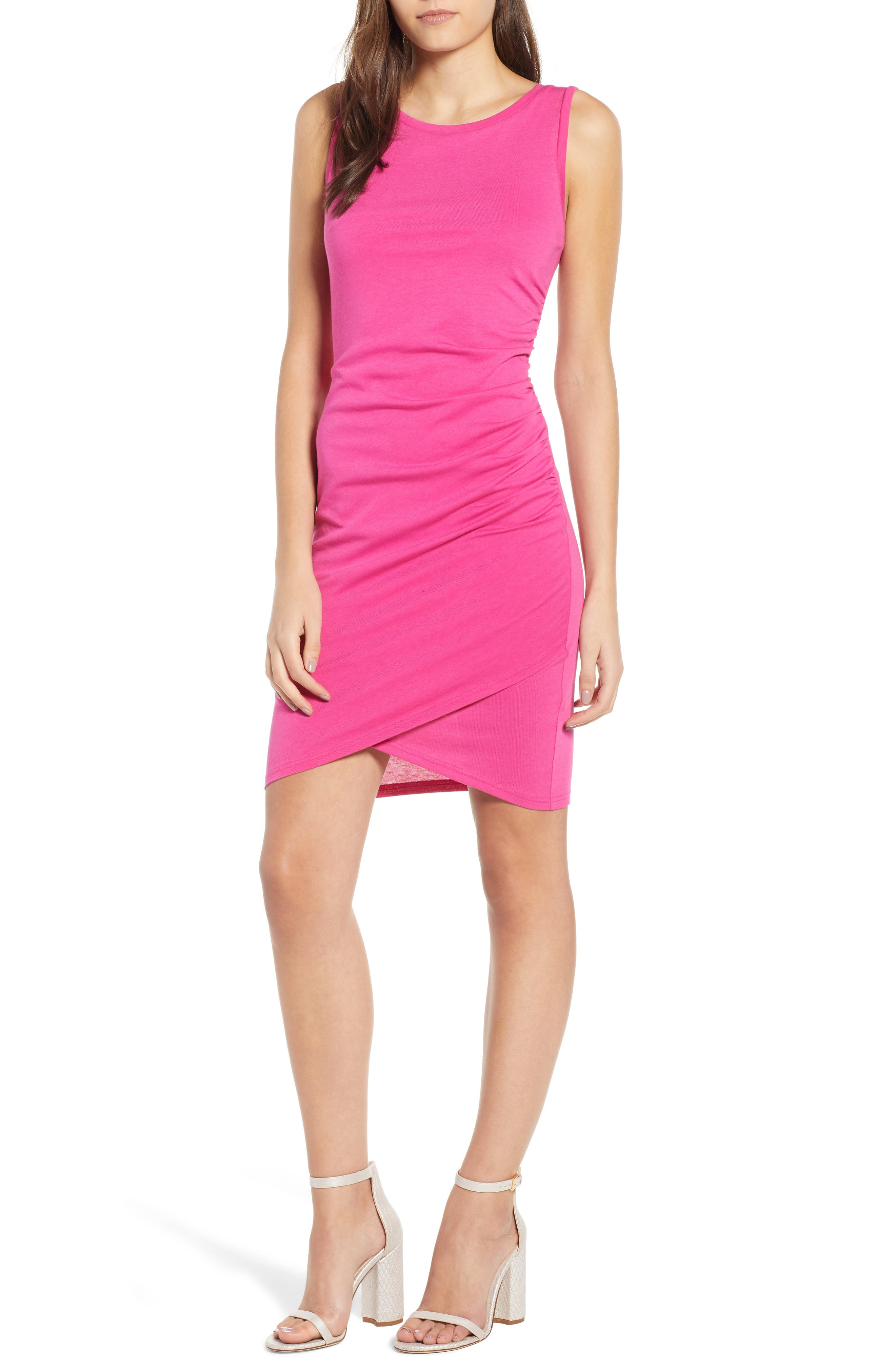 Ruched Body-Con Tank Dress,                             Main thumbnail 17, color,