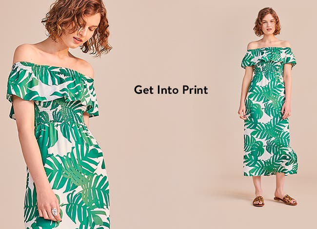 Get into print: floral and patterned dresses.