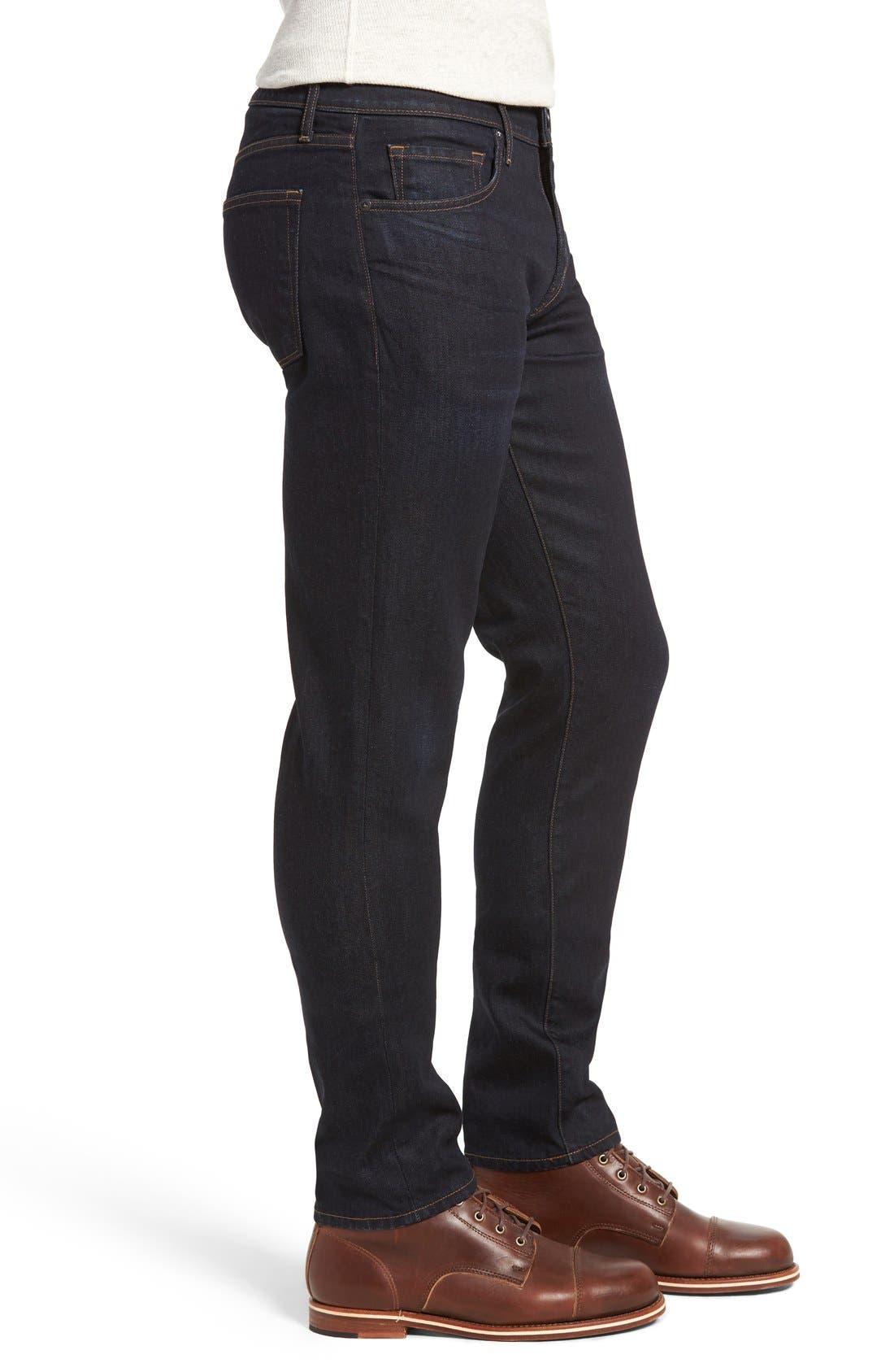 Tyler Slim Fit Jeans,                             Alternate thumbnail 4, color,                             WILSON BLUE