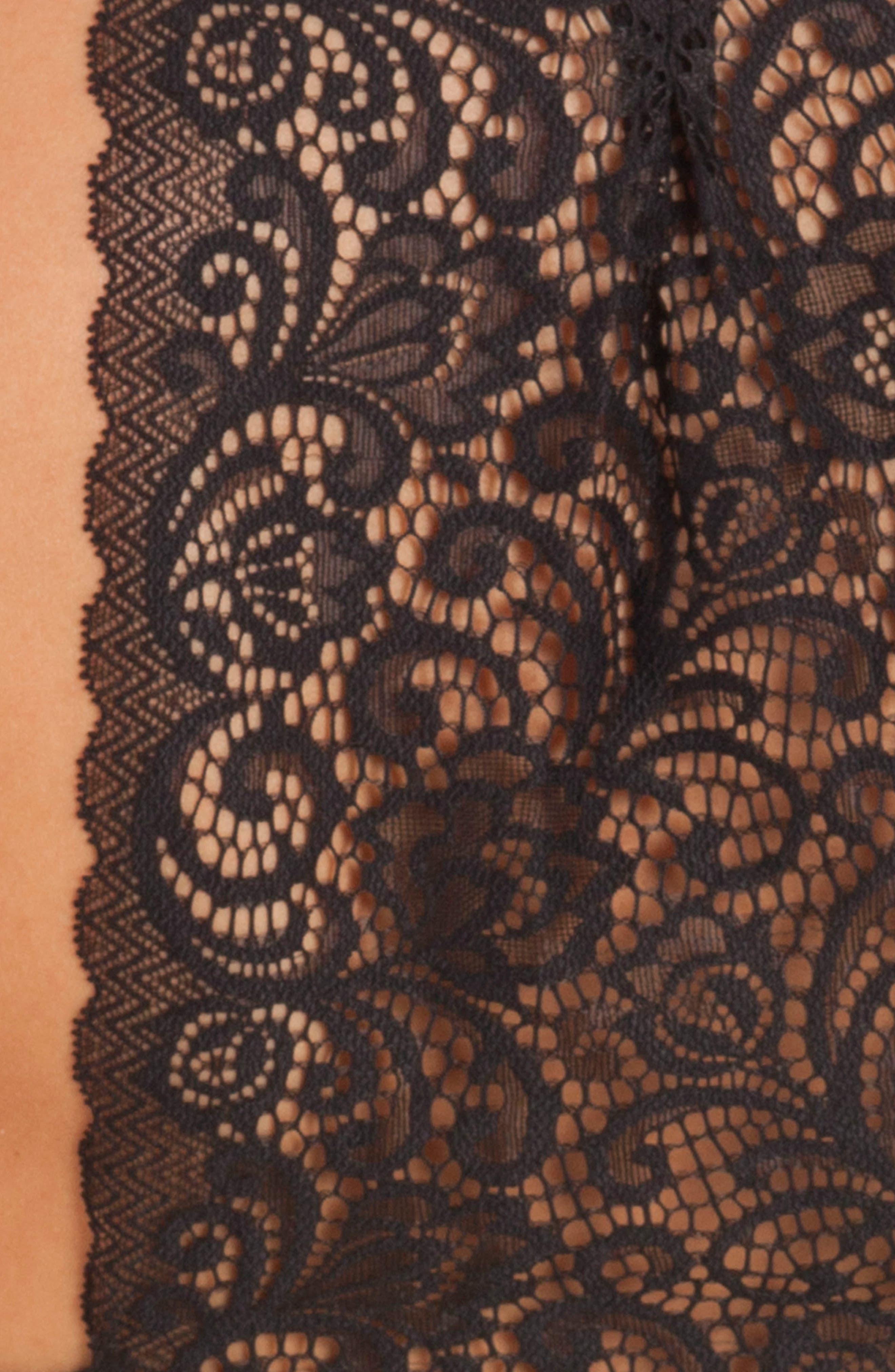Konya Lace Racerback Camisole,                             Alternate thumbnail 5, color,                             001