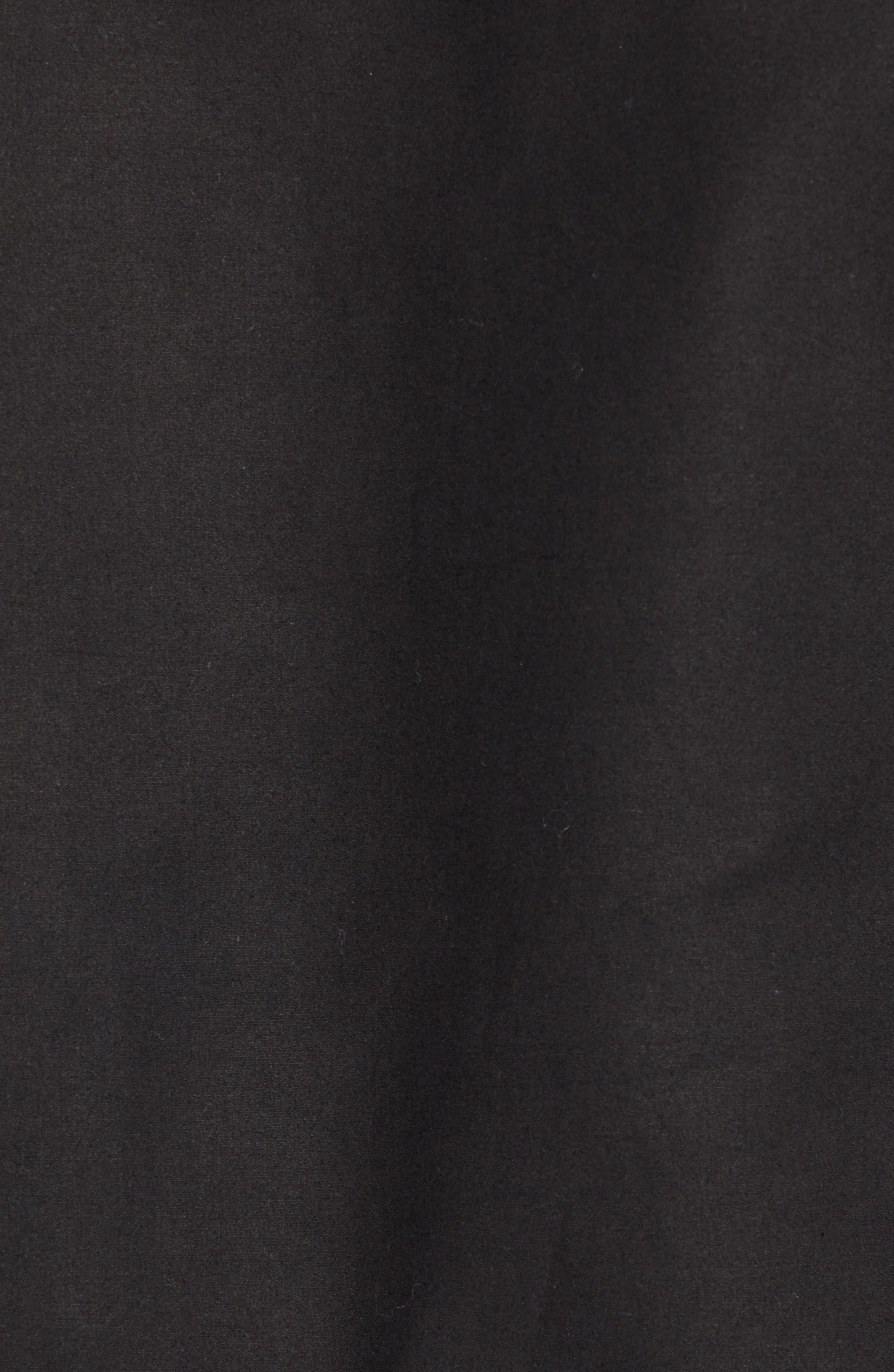 Short Mile Marker Waxed Cotton Jacket,                             Alternate thumbnail 7, color,                             BLACK