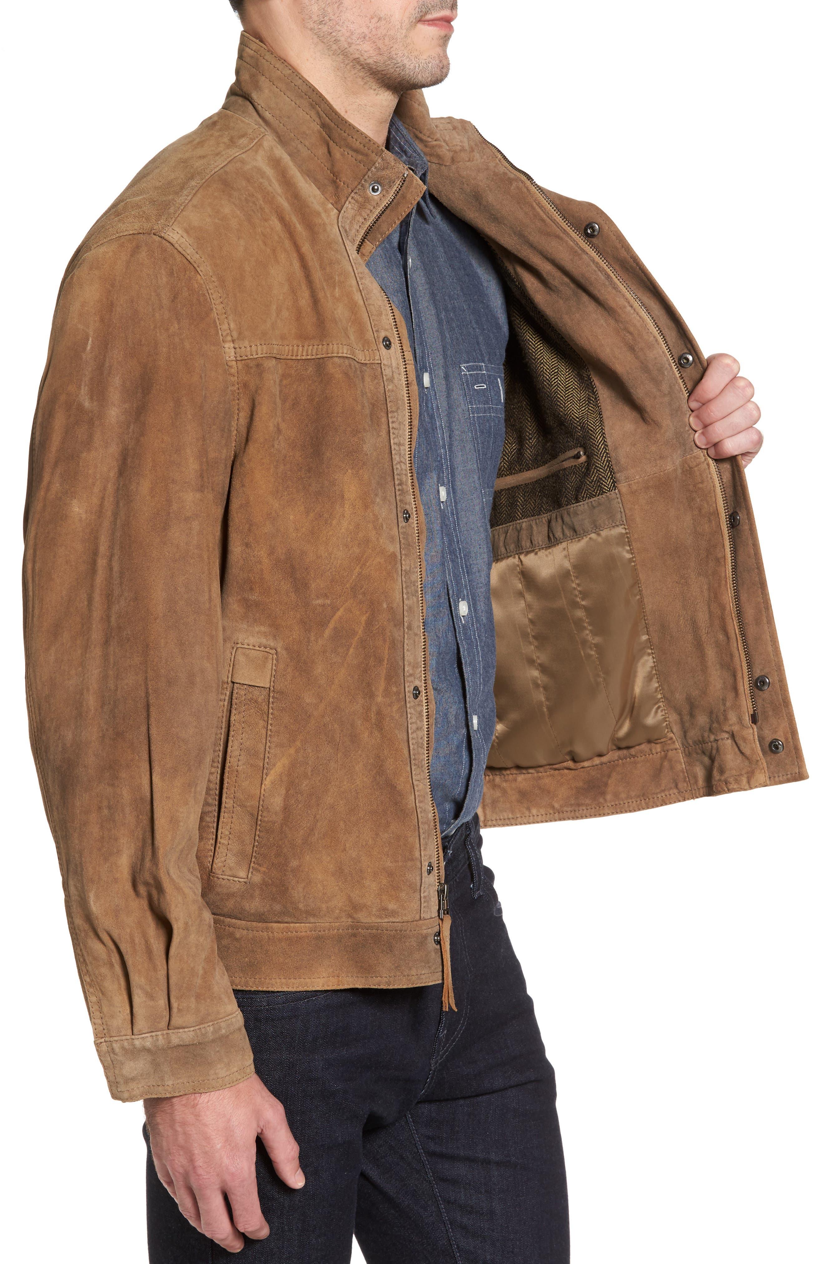 Lambskin Suede Jacket,                             Alternate thumbnail 3, color,                             210