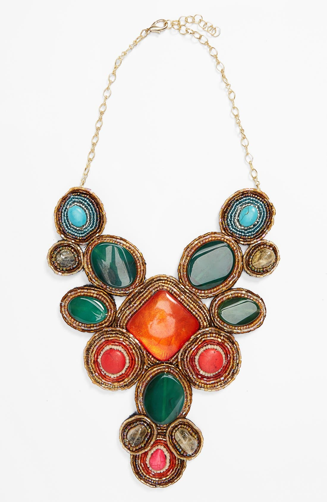 'Beads of Glory' Collar Necklace, Main, color, 960