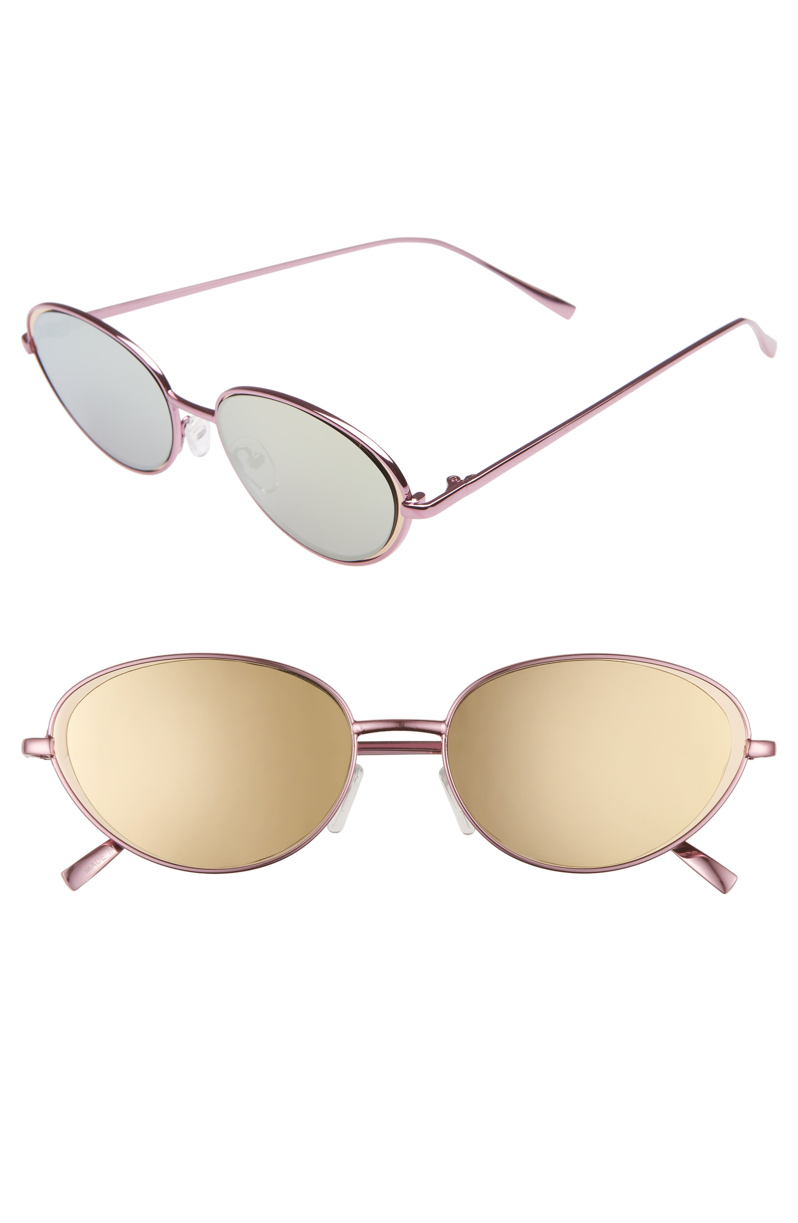 57mm Oval Sunglasses,                             Main thumbnail 1, color,                             650