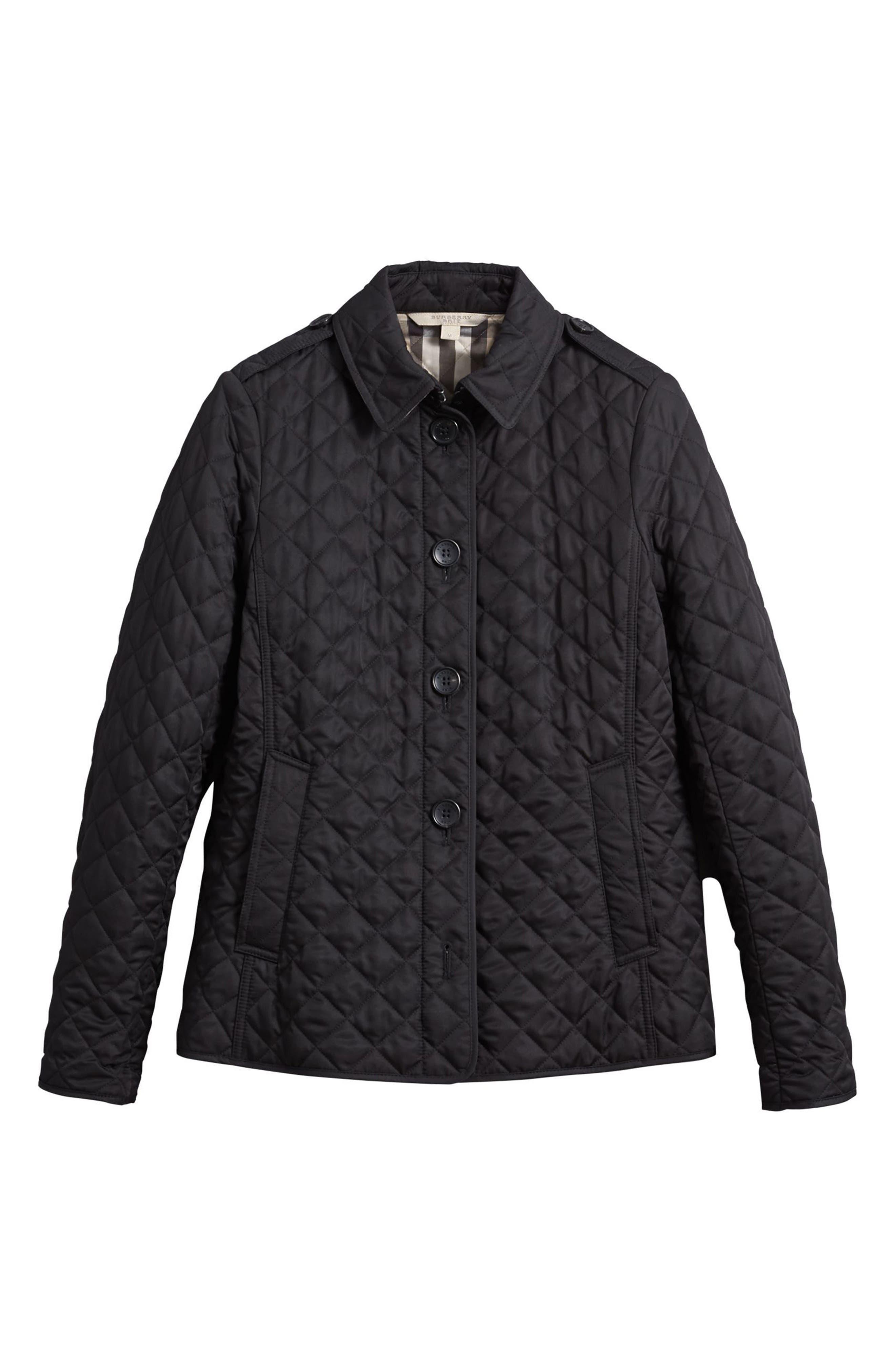 Ashurst Quilted Jacket,                             Alternate thumbnail 5, color,                             BLACK