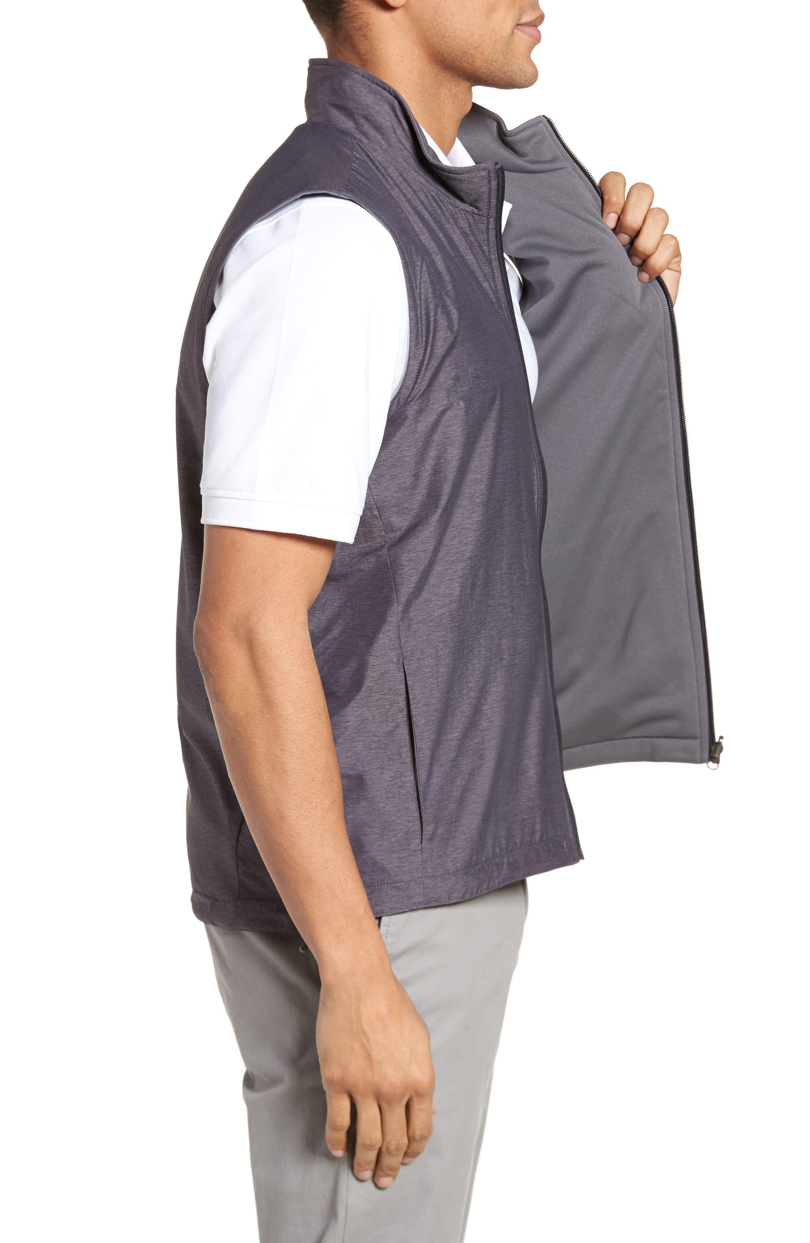 Carthage Reversible Vest,                             Alternate thumbnail 4, color,                             BLACK