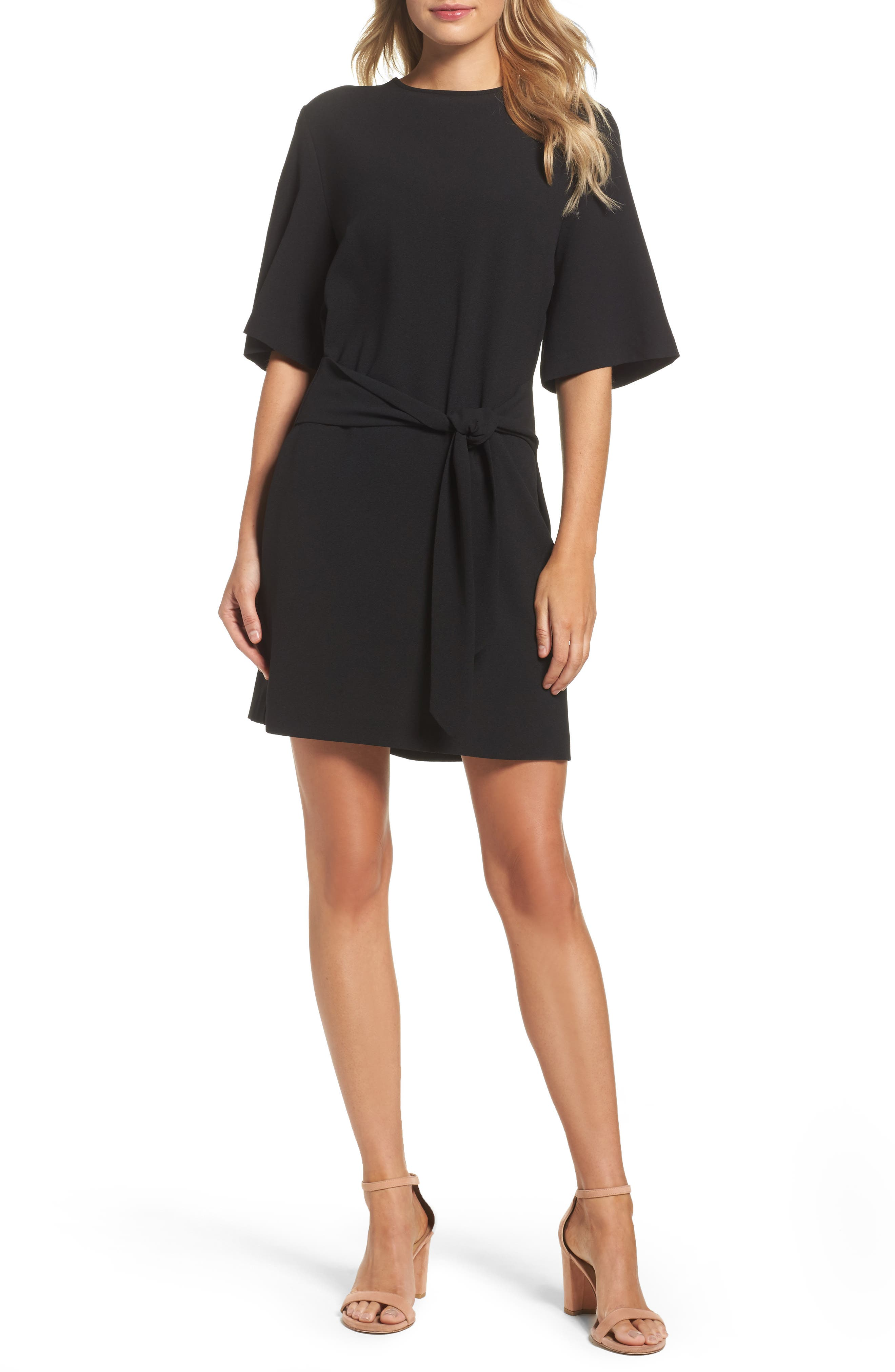 Dara Shift Dress,                             Main thumbnail 1, color,                             BLACK