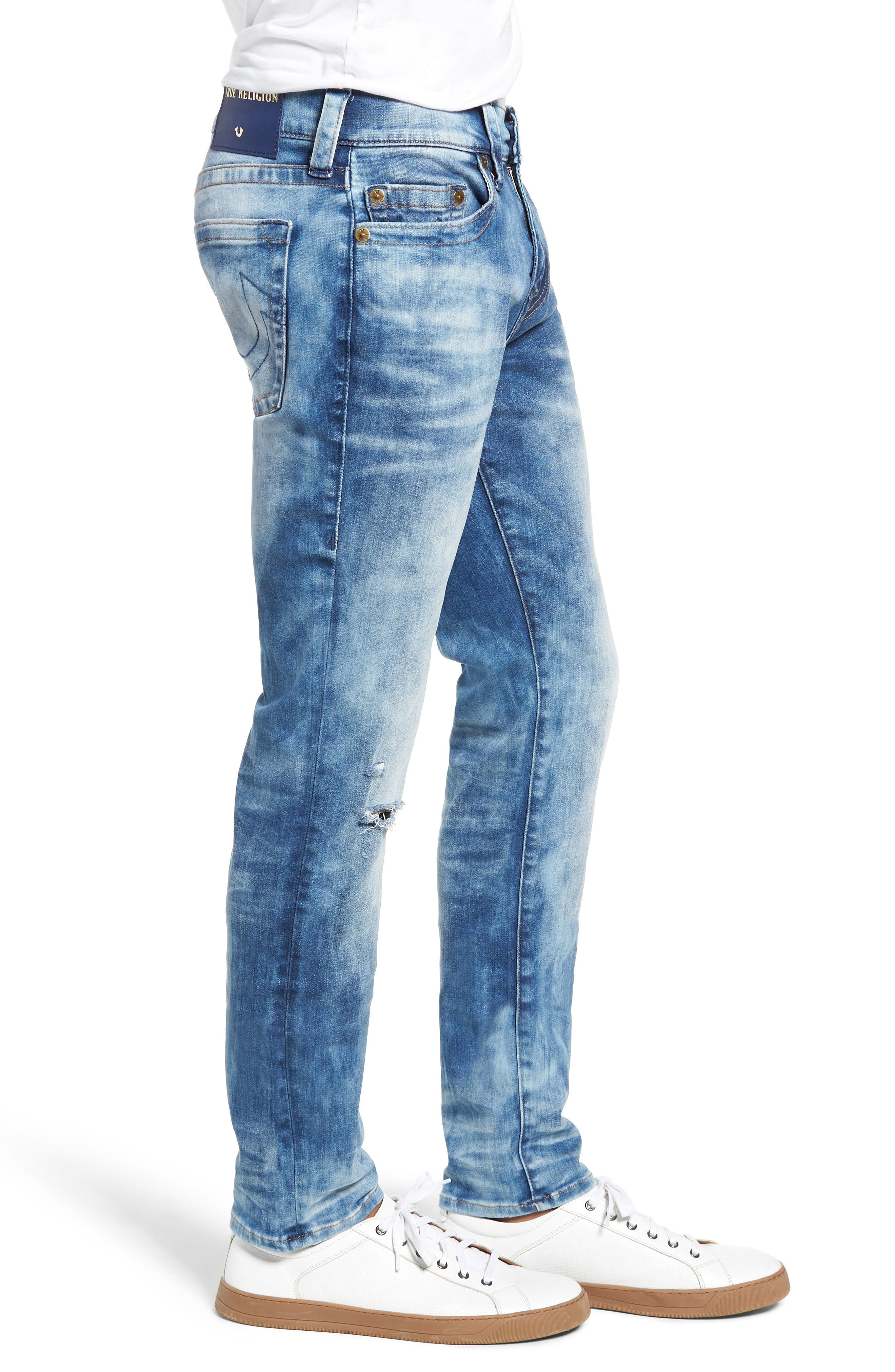 Rocco Skinny Fit Jeans,                             Alternate thumbnail 3, color,                             BLUE RIOT