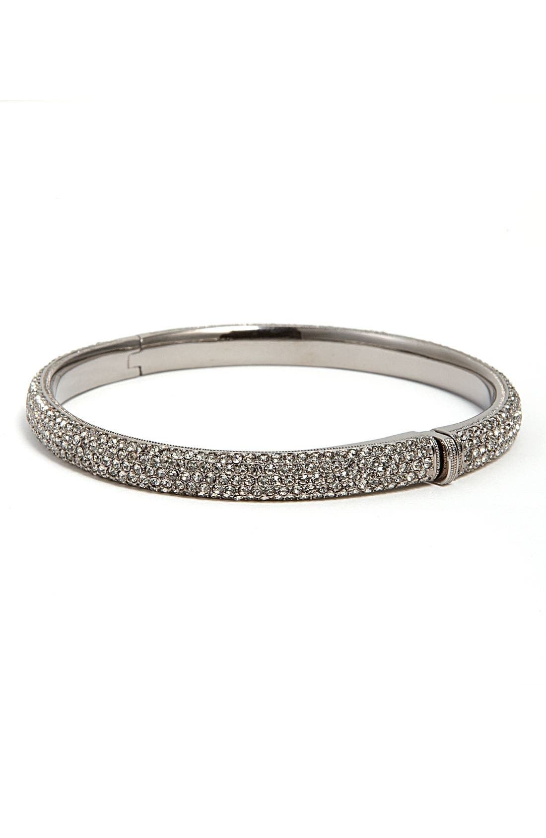 Pavé Crystal Bangle,                         Main,                         color, 001