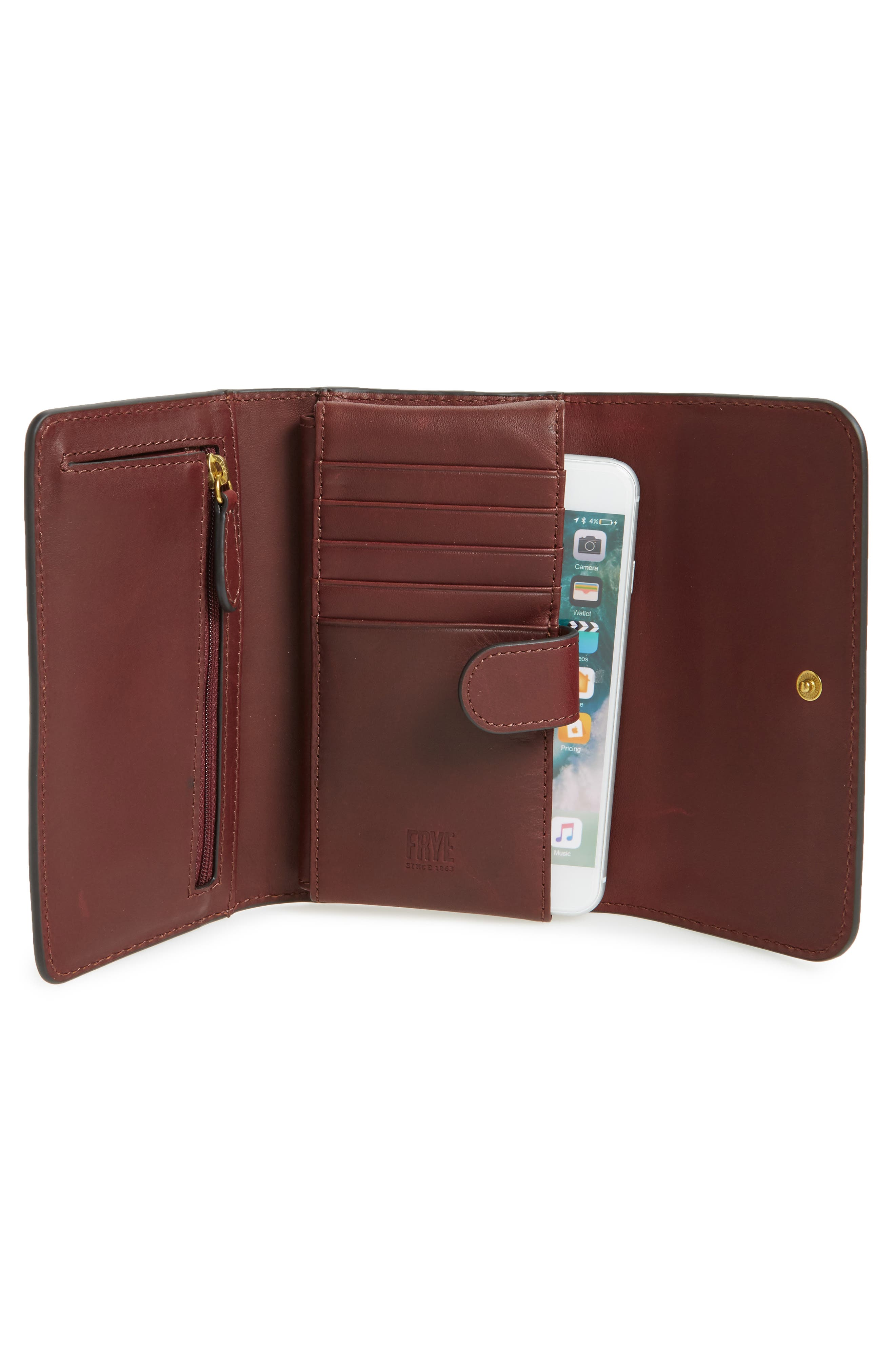 Campus Rivet Leather Smartphone Wallet with Crossbody Strap,                             Alternate thumbnail 10, color,