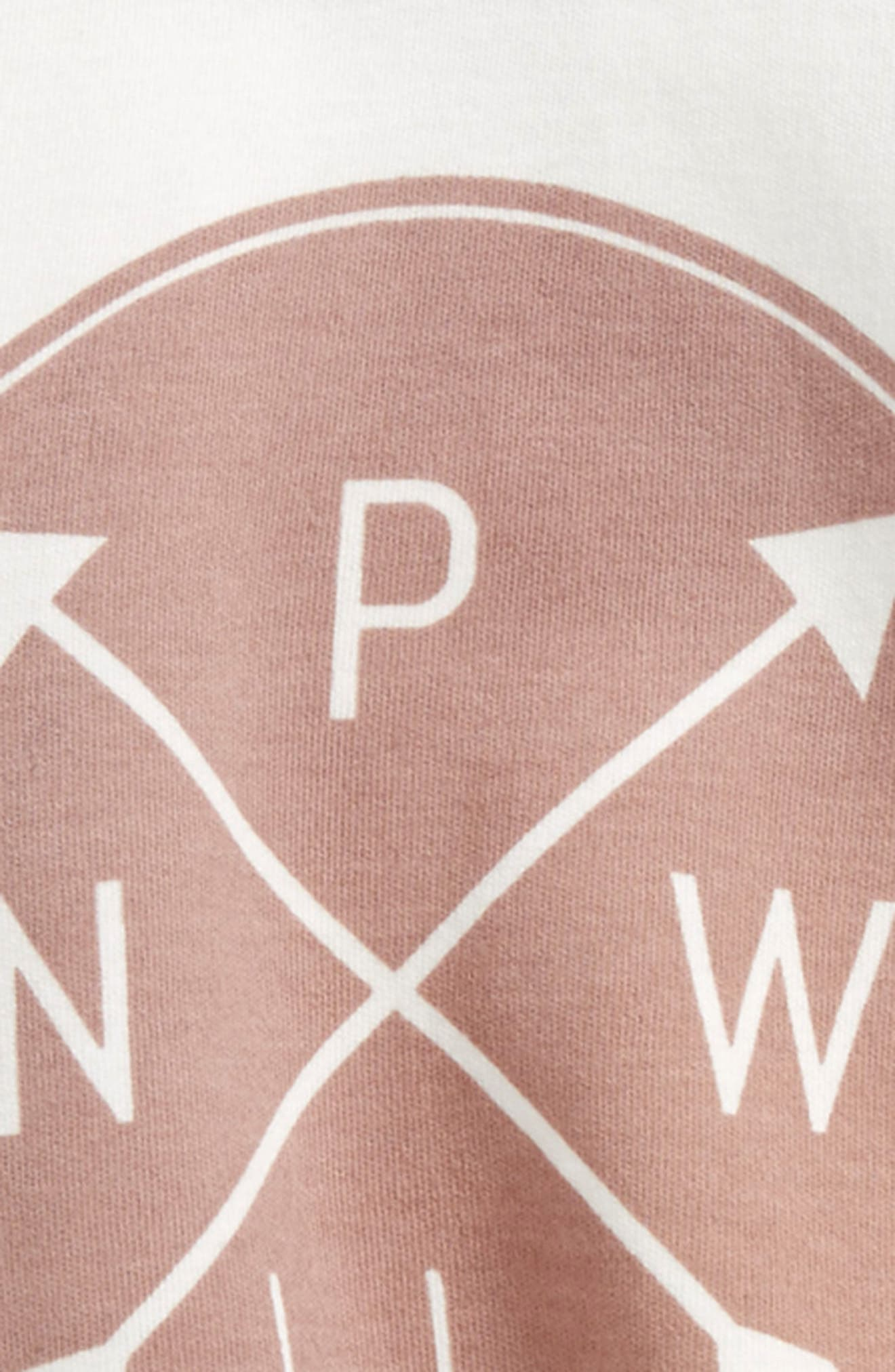 PNW Logo Organic Cotton Tee,                             Alternate thumbnail 2, color,                             OFF WHITE/ WOODROSE/ GREY