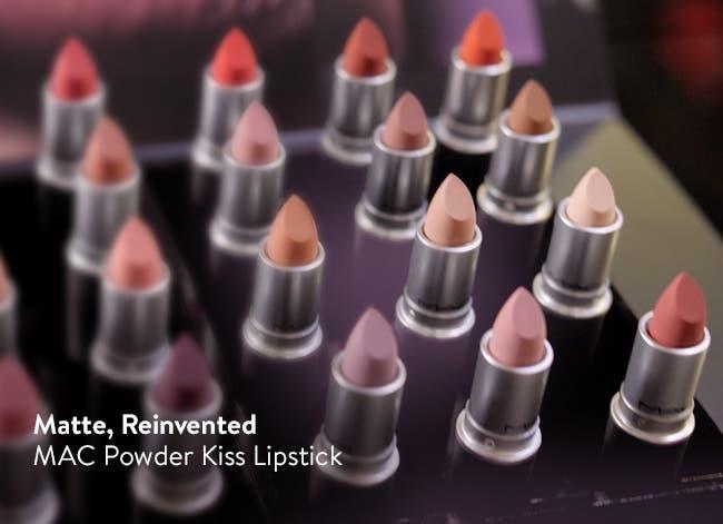 MAC Powder Kiss Lipstick: matte lipstick, reinvented.