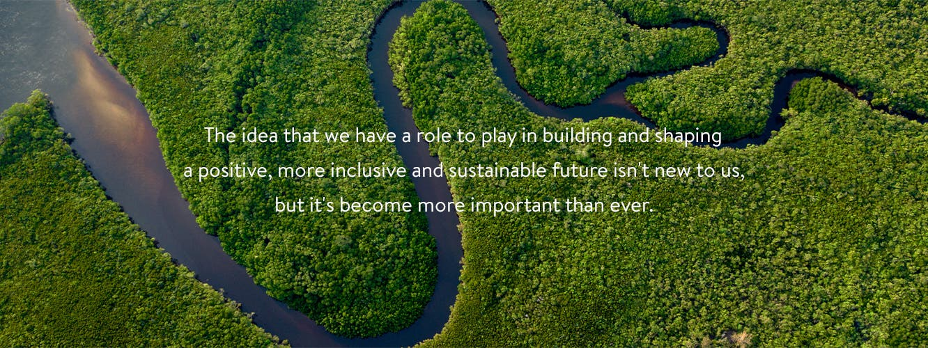 The idea that we have a role to play in building and shaping a positive, more inclusive and sustainable future isn't new to us, but it's become more important than ever.