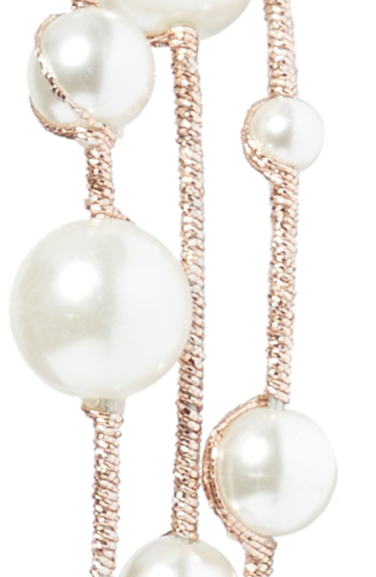 Imitation Pearl Headband,                             Alternate thumbnail 4, color,