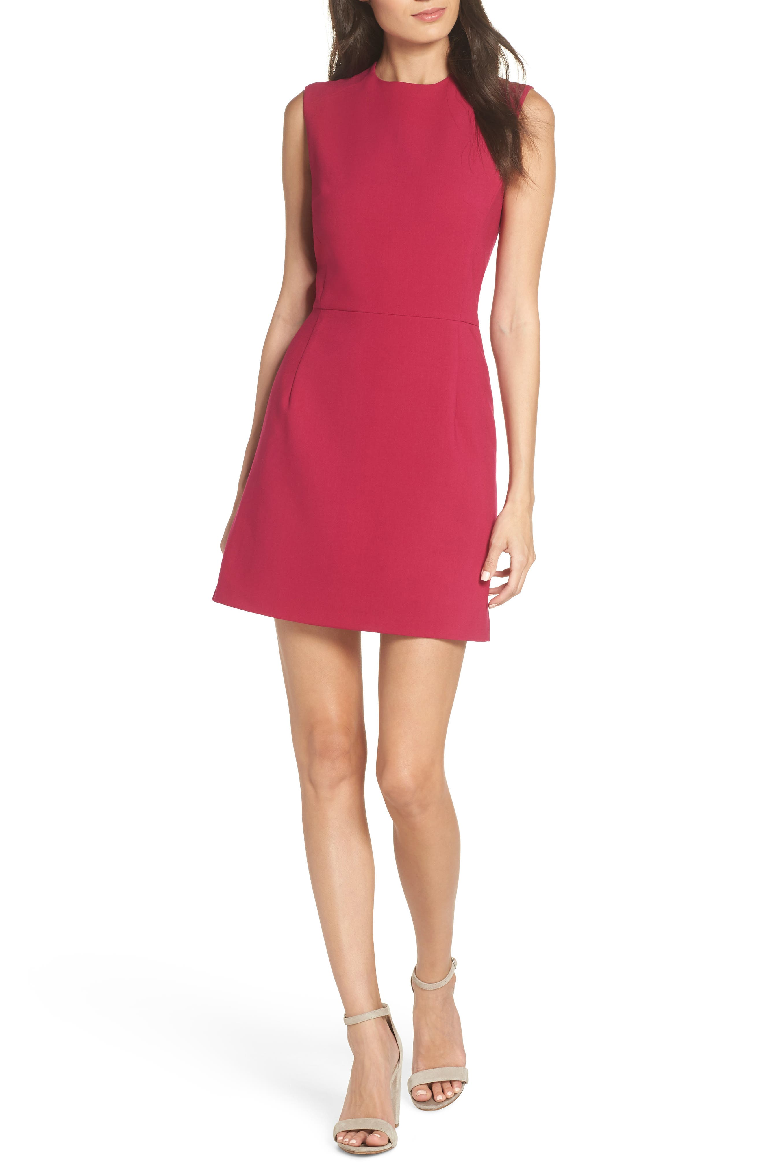 'Sundae' Stretch Minidress,                         Main,                         color, BRIGHT BAKED CHERRY