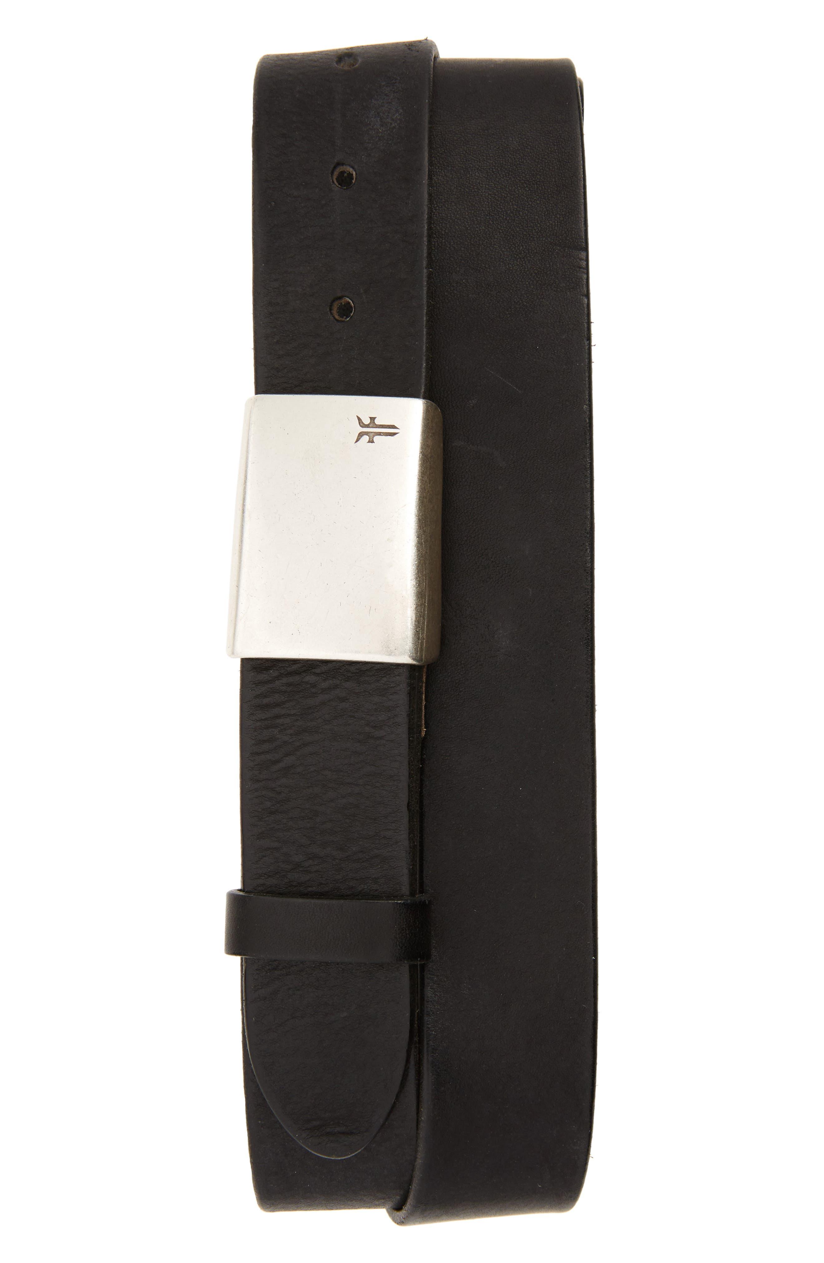 Leather Belt,                         Main,                         color, 001