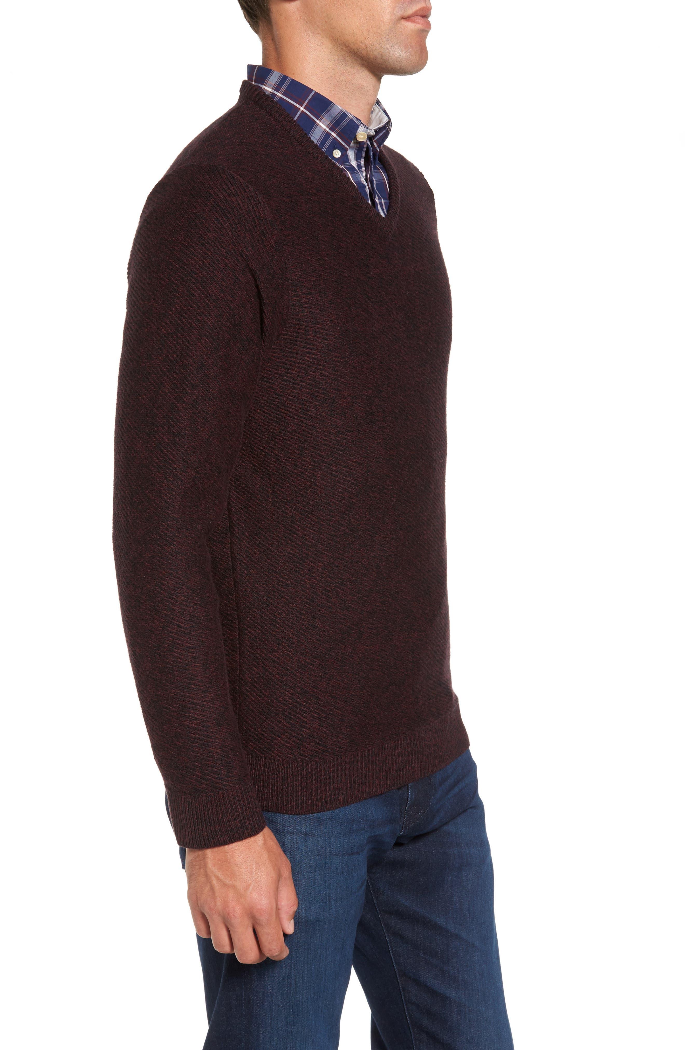 Cotton & Cashmere V-Neck Sweater,                             Alternate thumbnail 6, color,