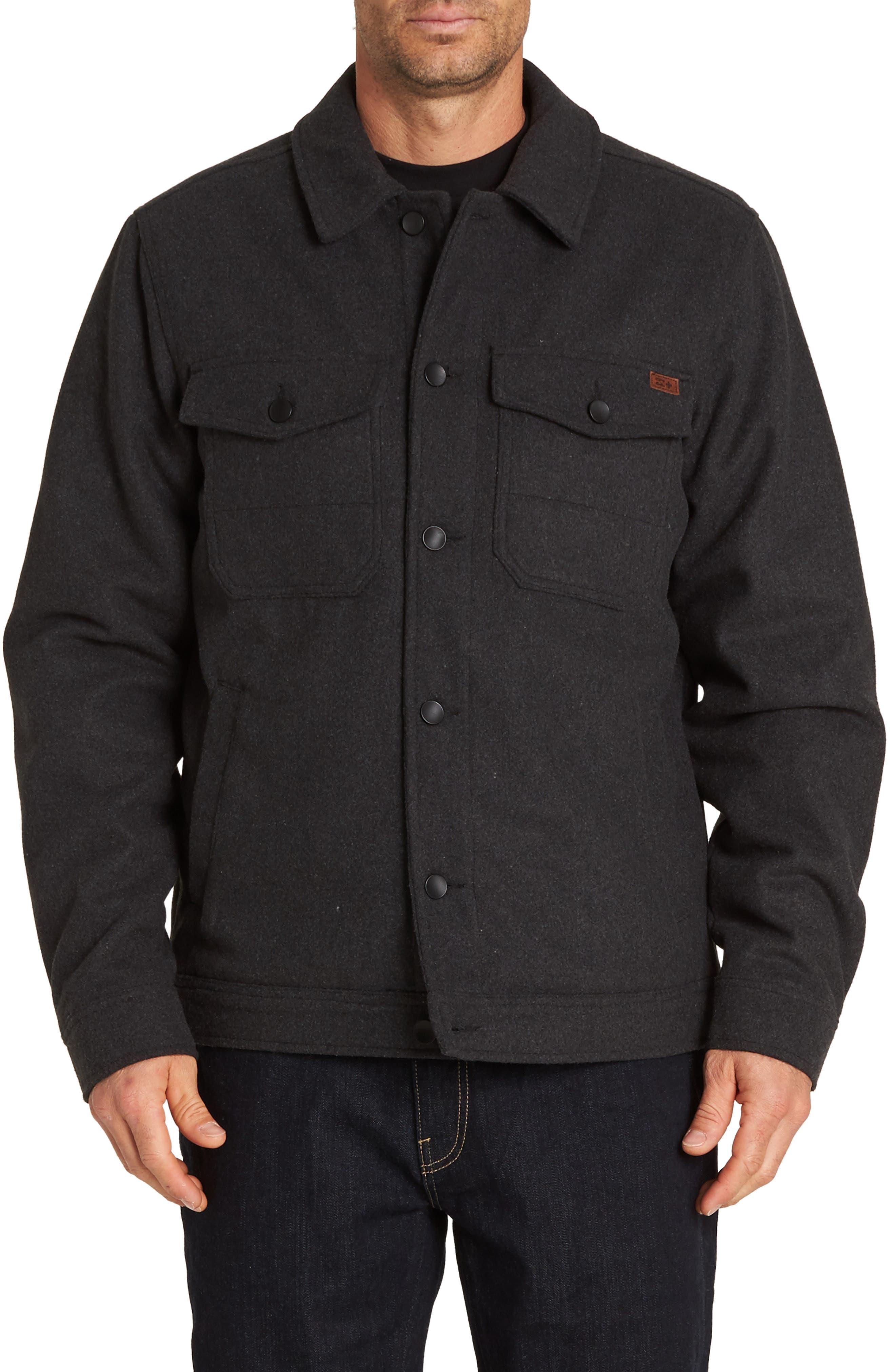 Barlow Jacket,                         Main,                         color, BLACK HEATHER