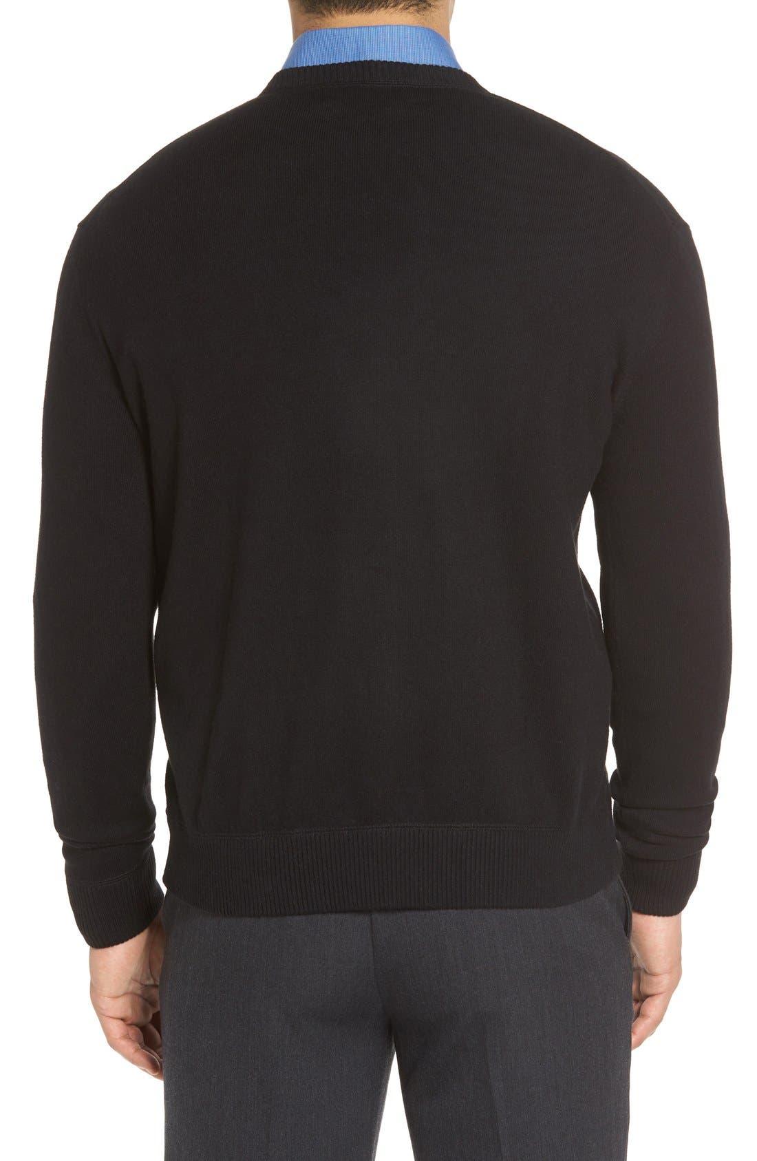 'Jersey Sport' Cotton Blend Crewneck Sweater,                             Alternate thumbnail 2, color,                             001