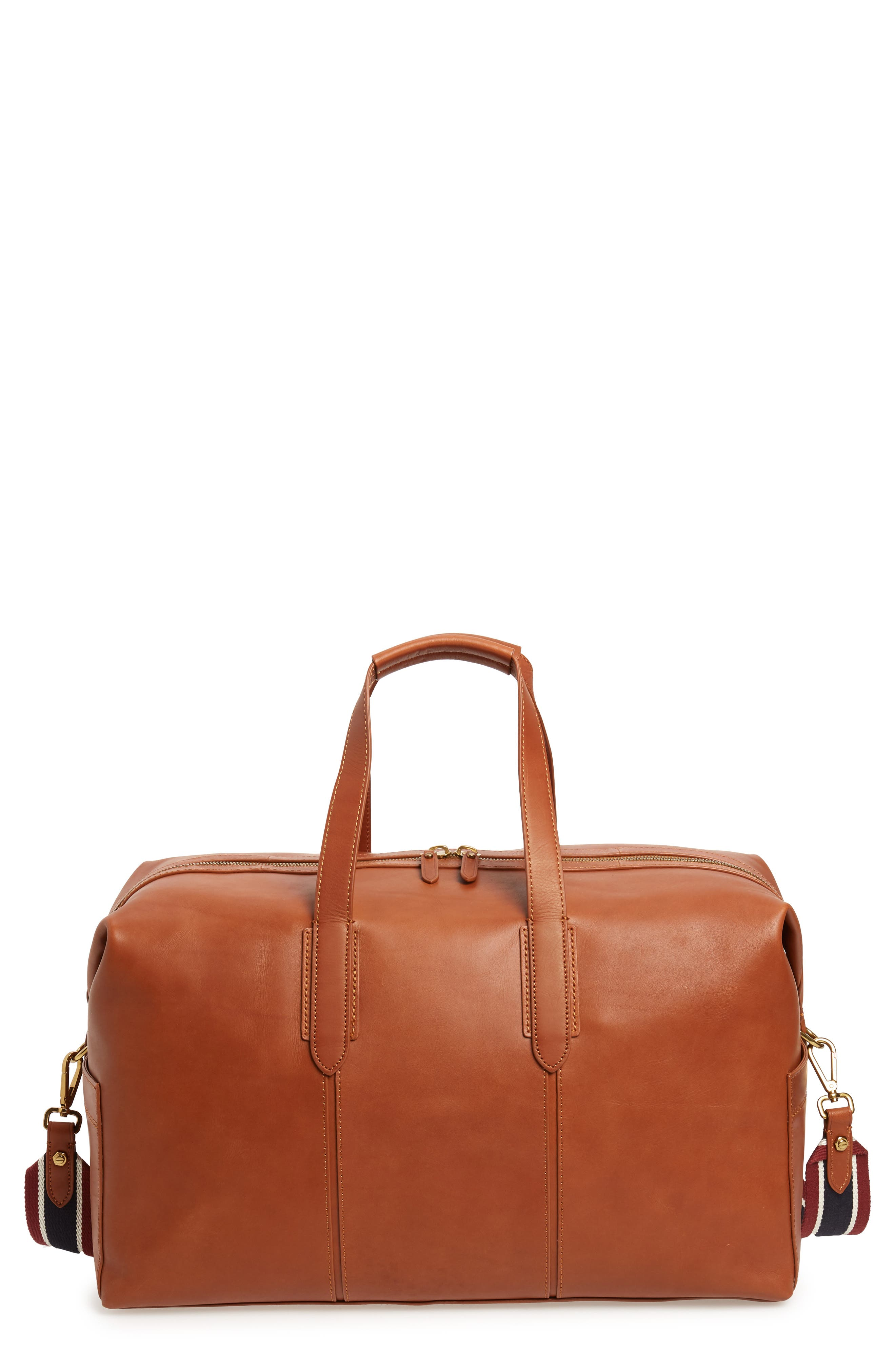 Oar Stripe Weekend Bag,                         Main,                         color, BURNISHED SIENNA