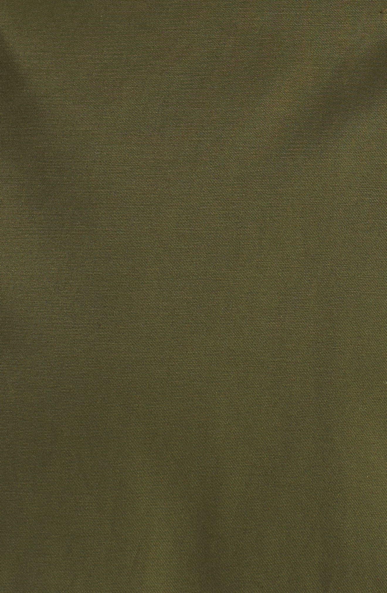 Packable Fit & Flare Raincoat,                             Alternate thumbnail 6, color,                             OLIVE