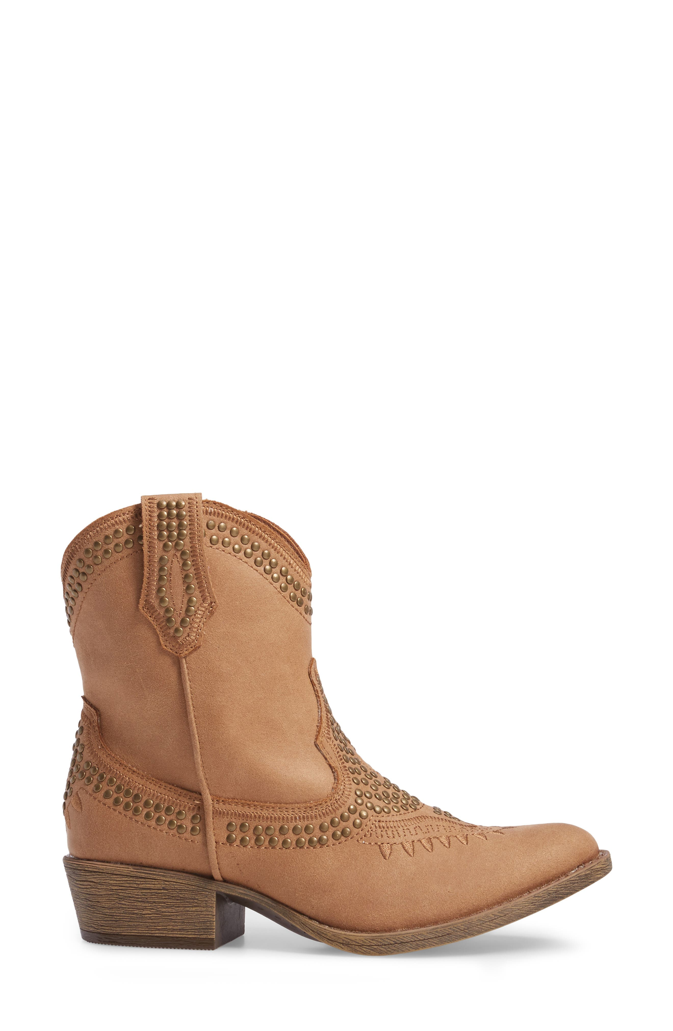 Amour Embellished Western Bootie,                             Alternate thumbnail 8, color,
