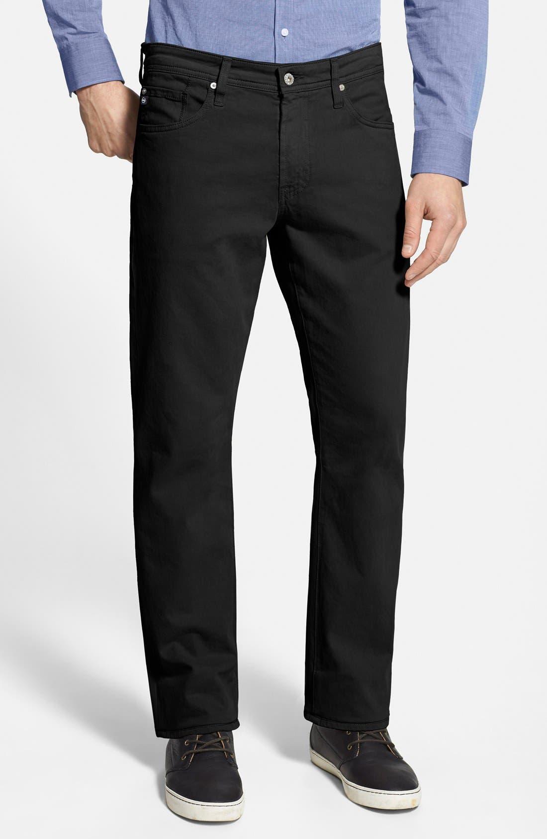 AG 'Protégé SUD' Straight Leg Pants, Main, color, 010