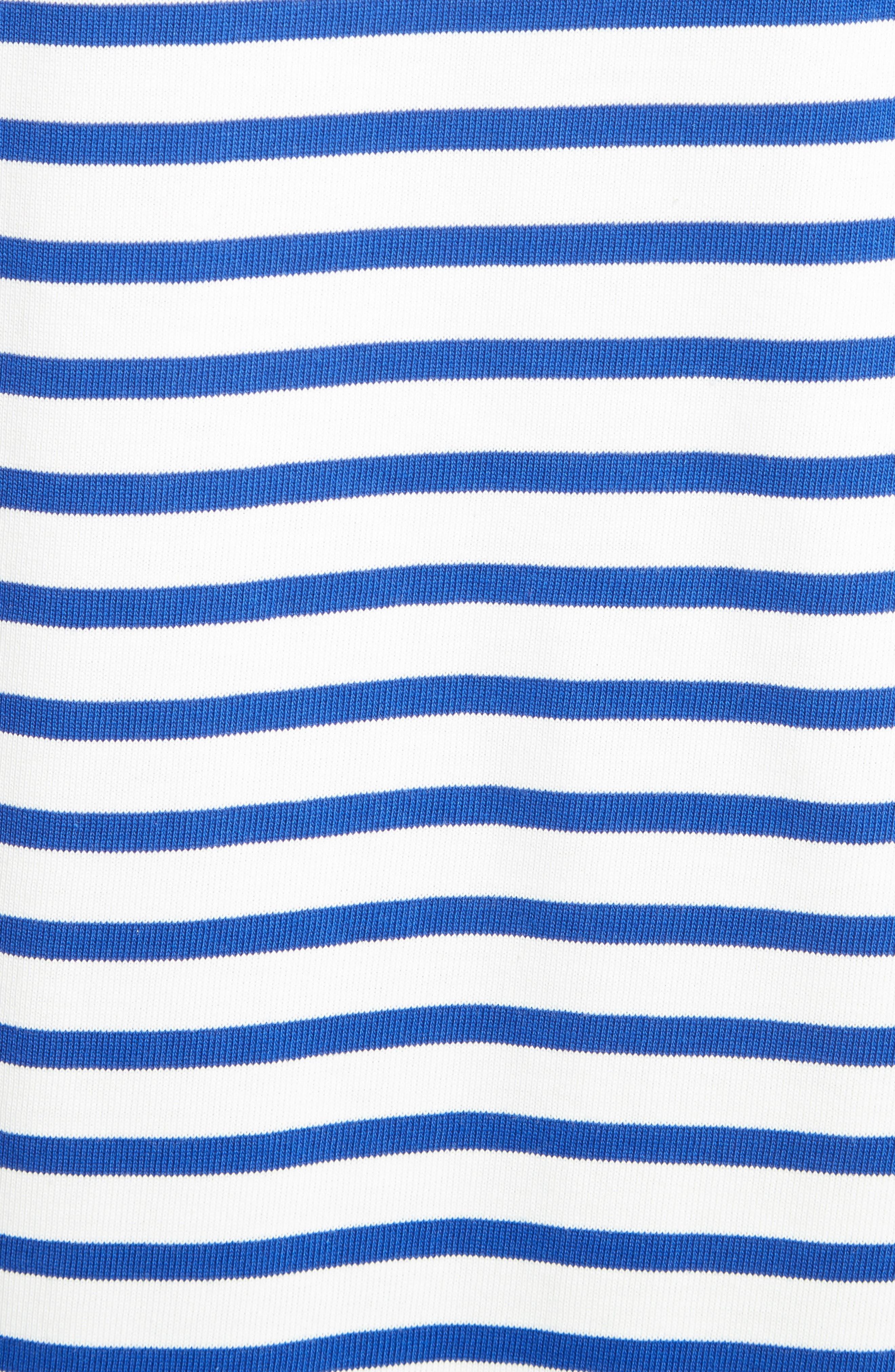 stripe flutter sleeve dress,                             Alternate thumbnail 5, color,                             137