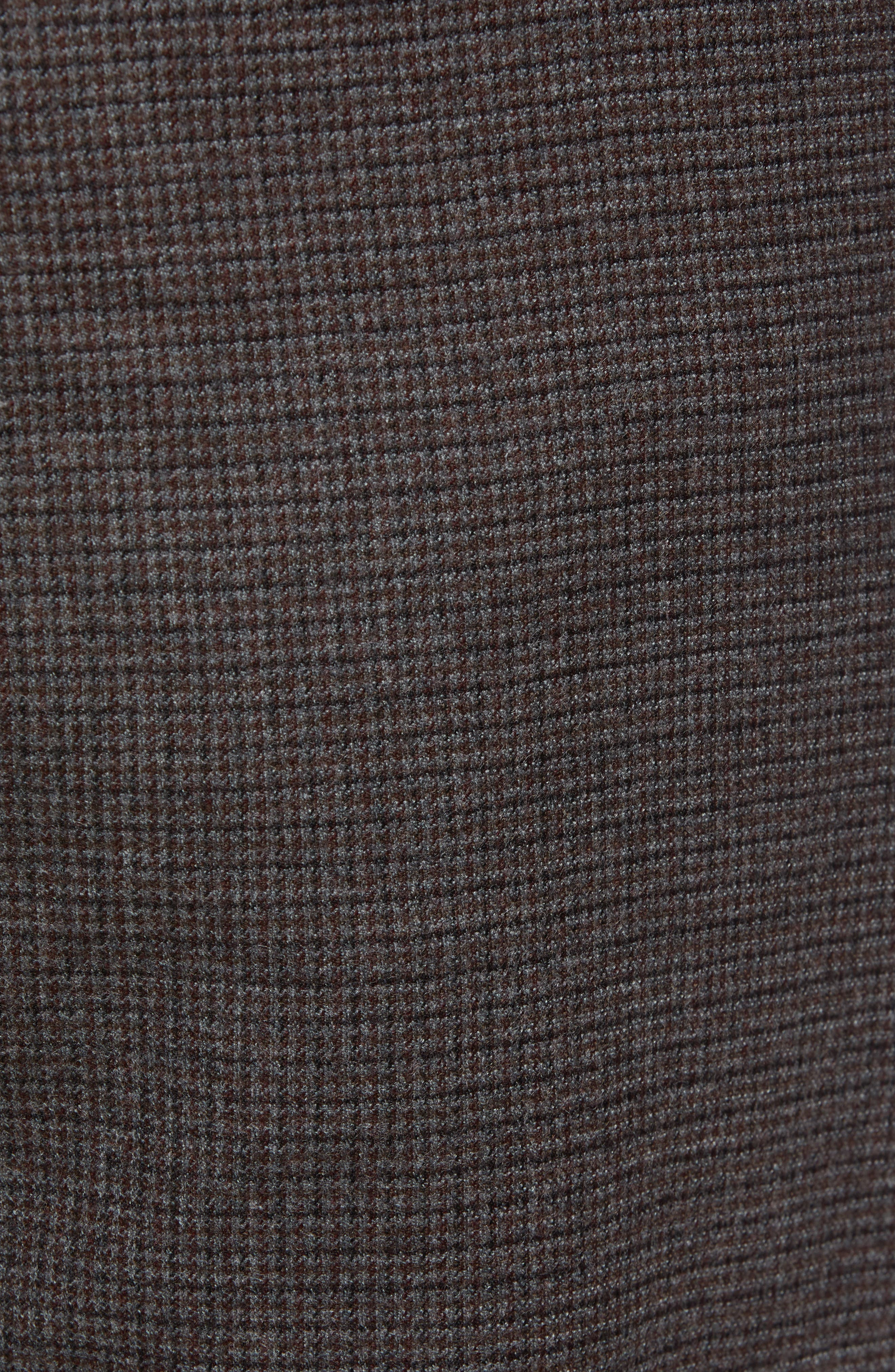 Cadiz Five Pocket Stretch Wool Trousers,                             Alternate thumbnail 5, color,                             ANTHRACITE