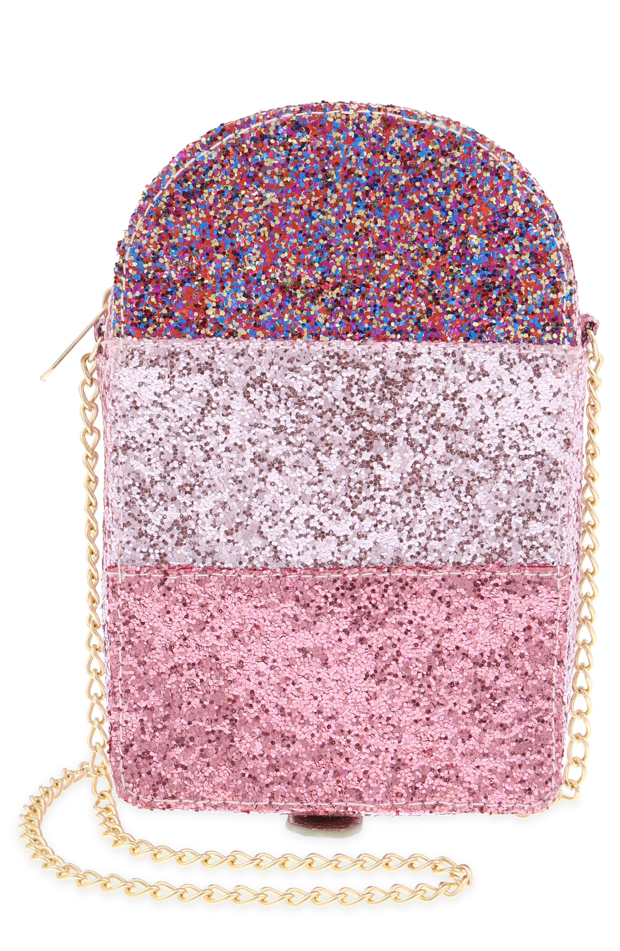 Ice Pop Glitter Shoulder Bag,                         Main,                         color, PINK COMBO
