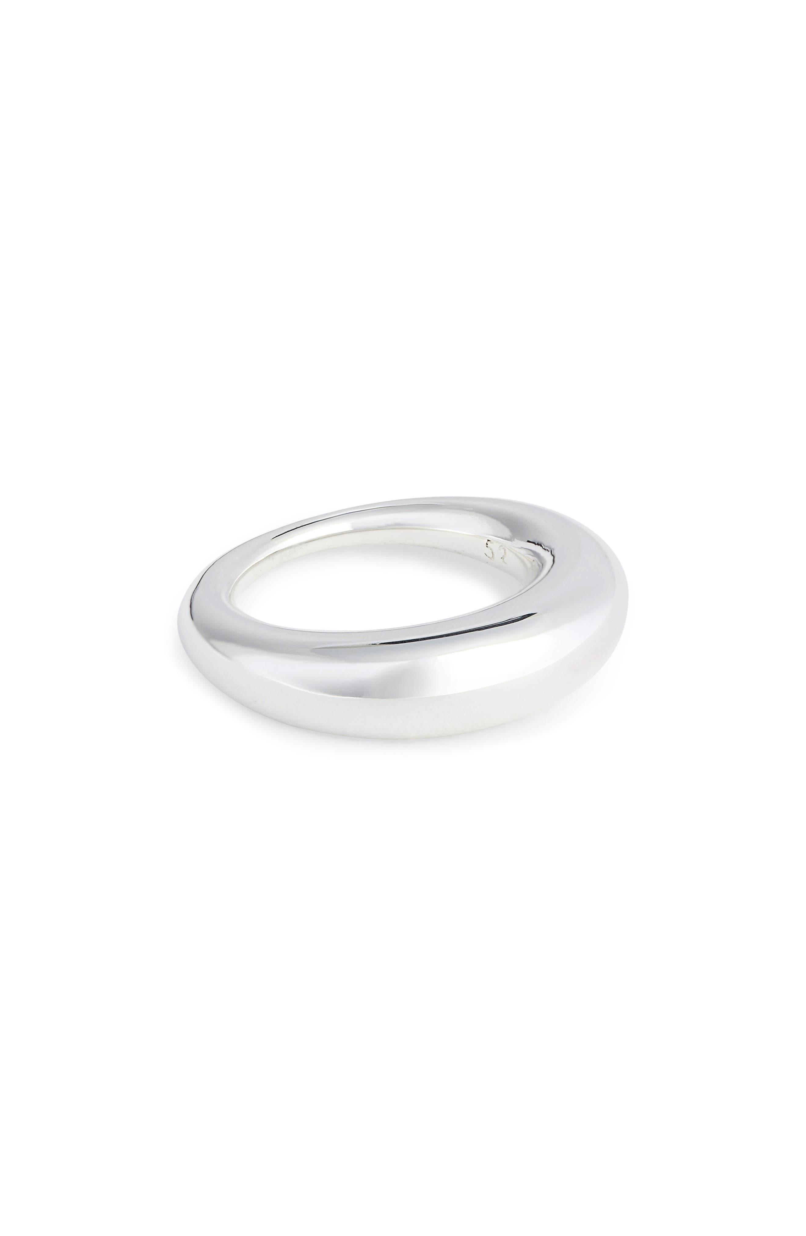 Large Snake Polished Silver Ring,                             Main thumbnail 1, color,                             POLISHED SILVER