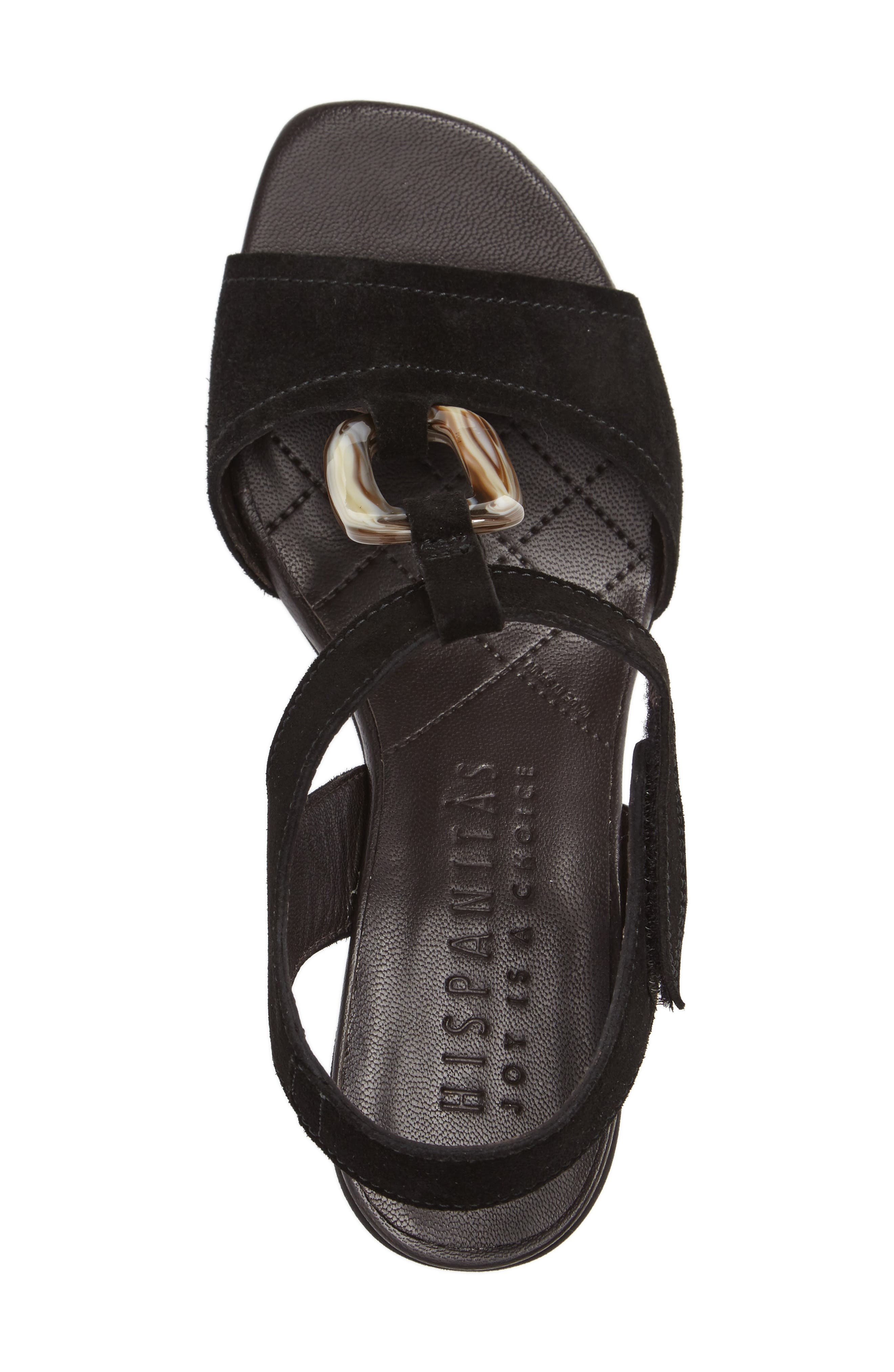 Ursula Ringed T-Strap Sandal,                             Alternate thumbnail 3, color,                             001