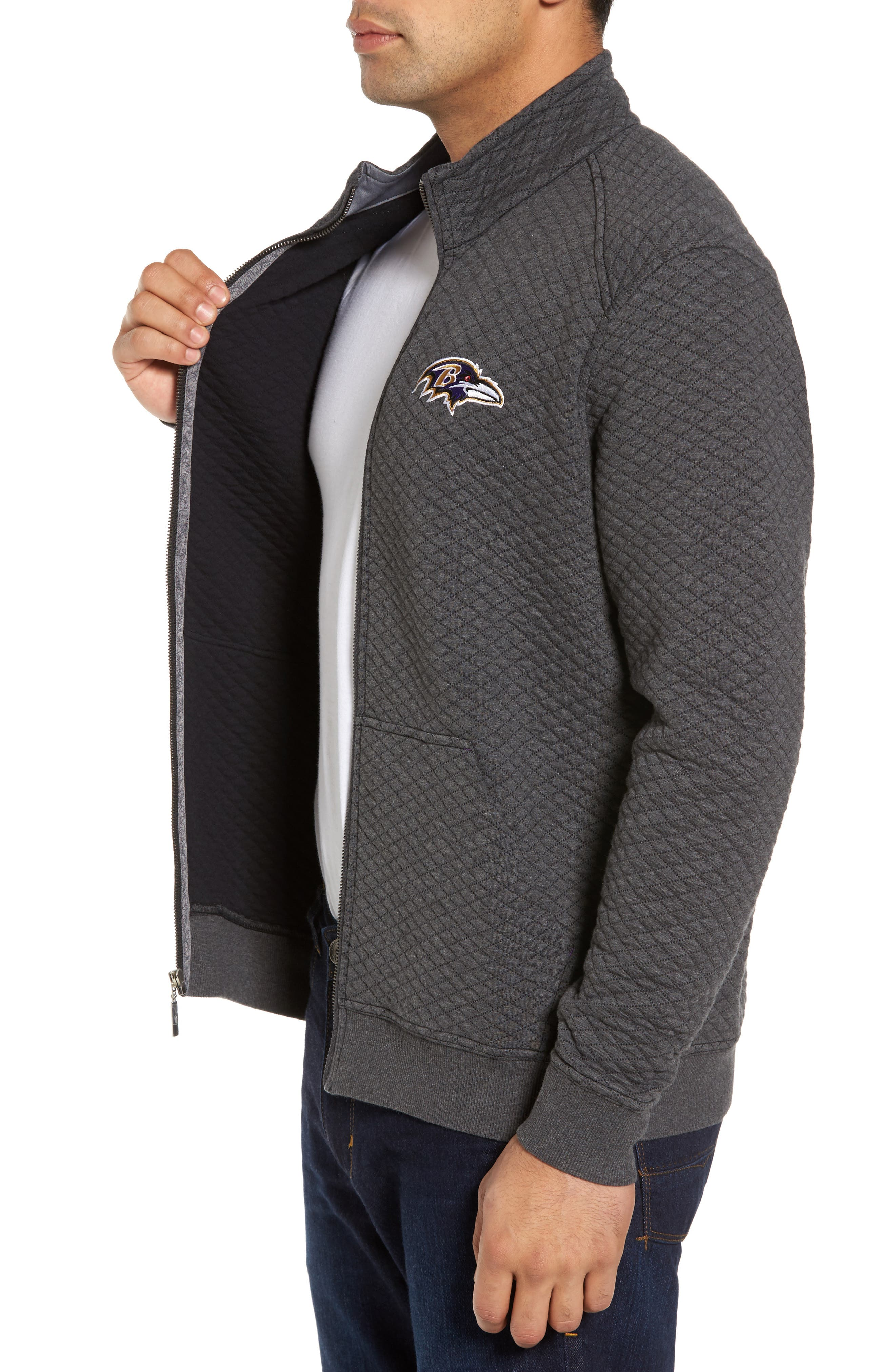 NFL Quiltessential Full Zip Sweatshirt,                             Alternate thumbnail 87, color,