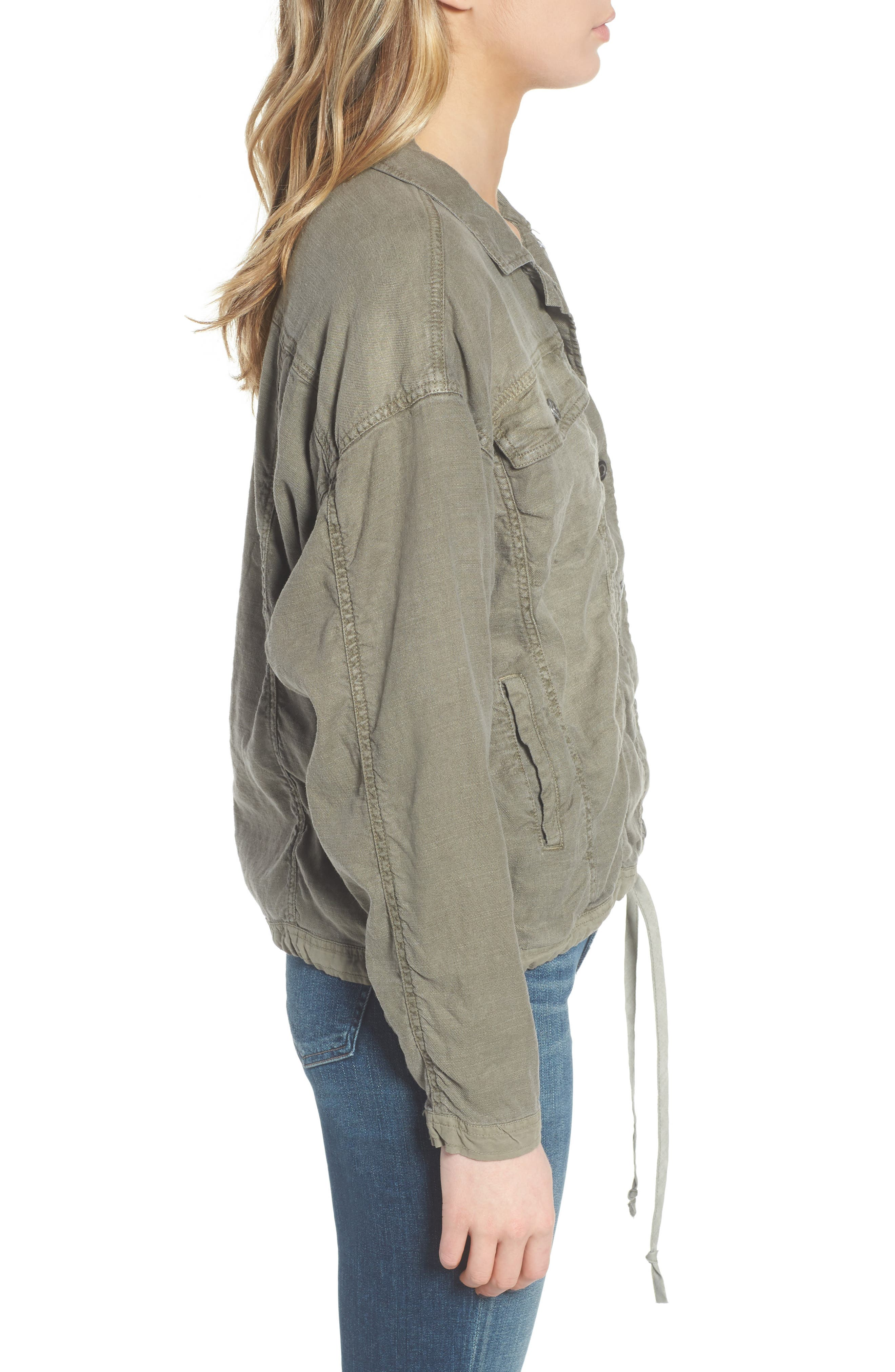 Linen Blend Drape Jacket,                             Alternate thumbnail 5, color,