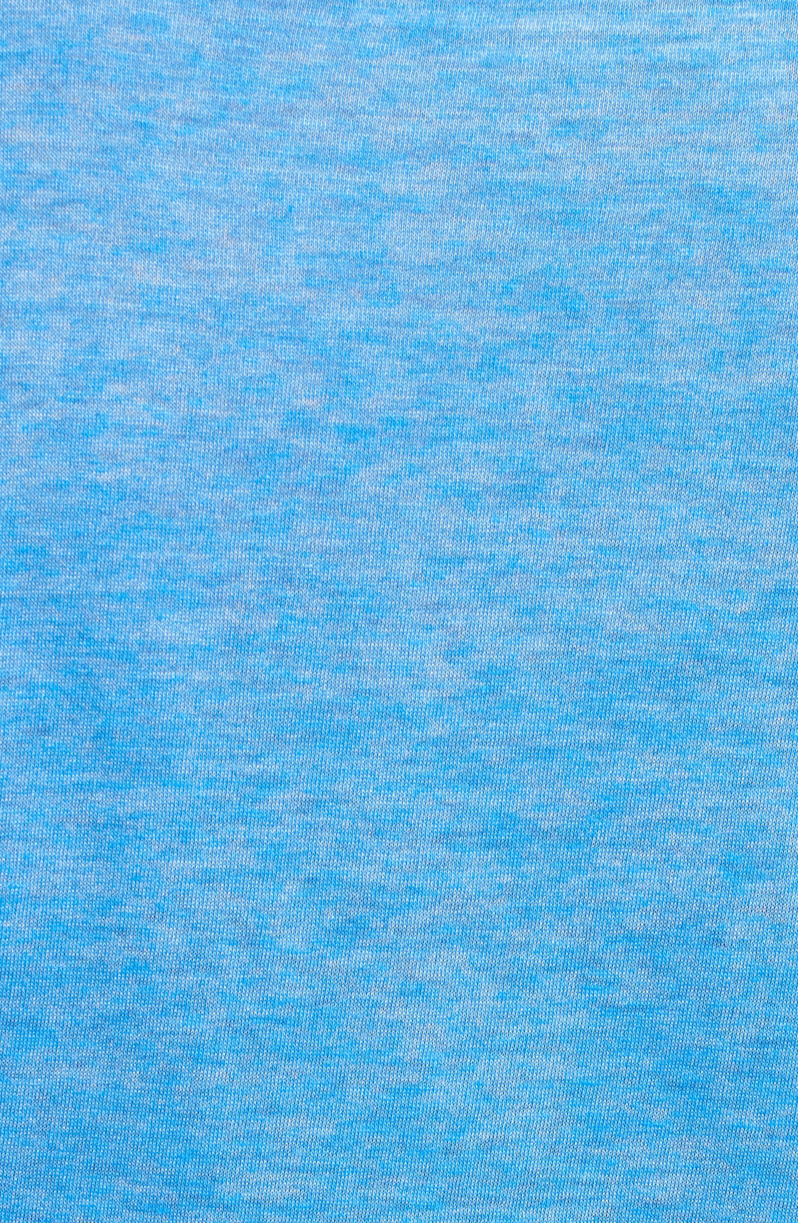 Burnout V-Neck T-Shirt,                             Alternate thumbnail 5, color,                             BLUE BLISS- WHITE BURNOUT