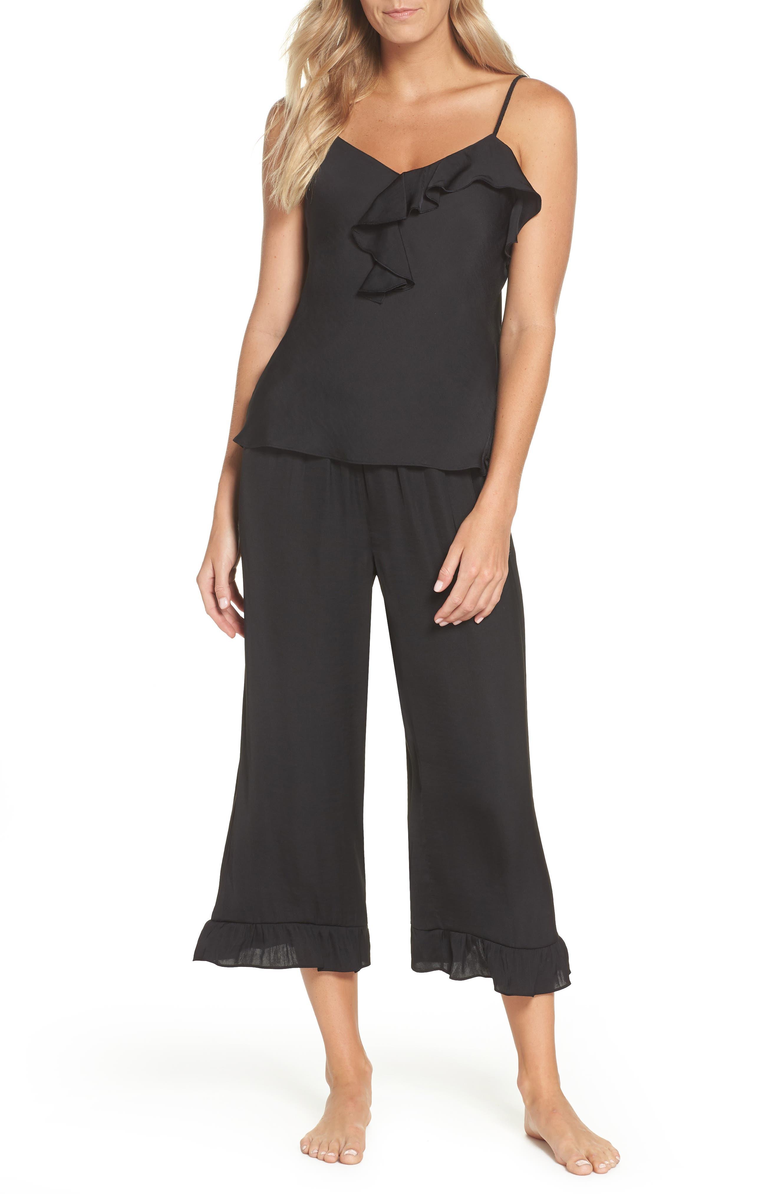 JOSIE Satin Pajamas in Black