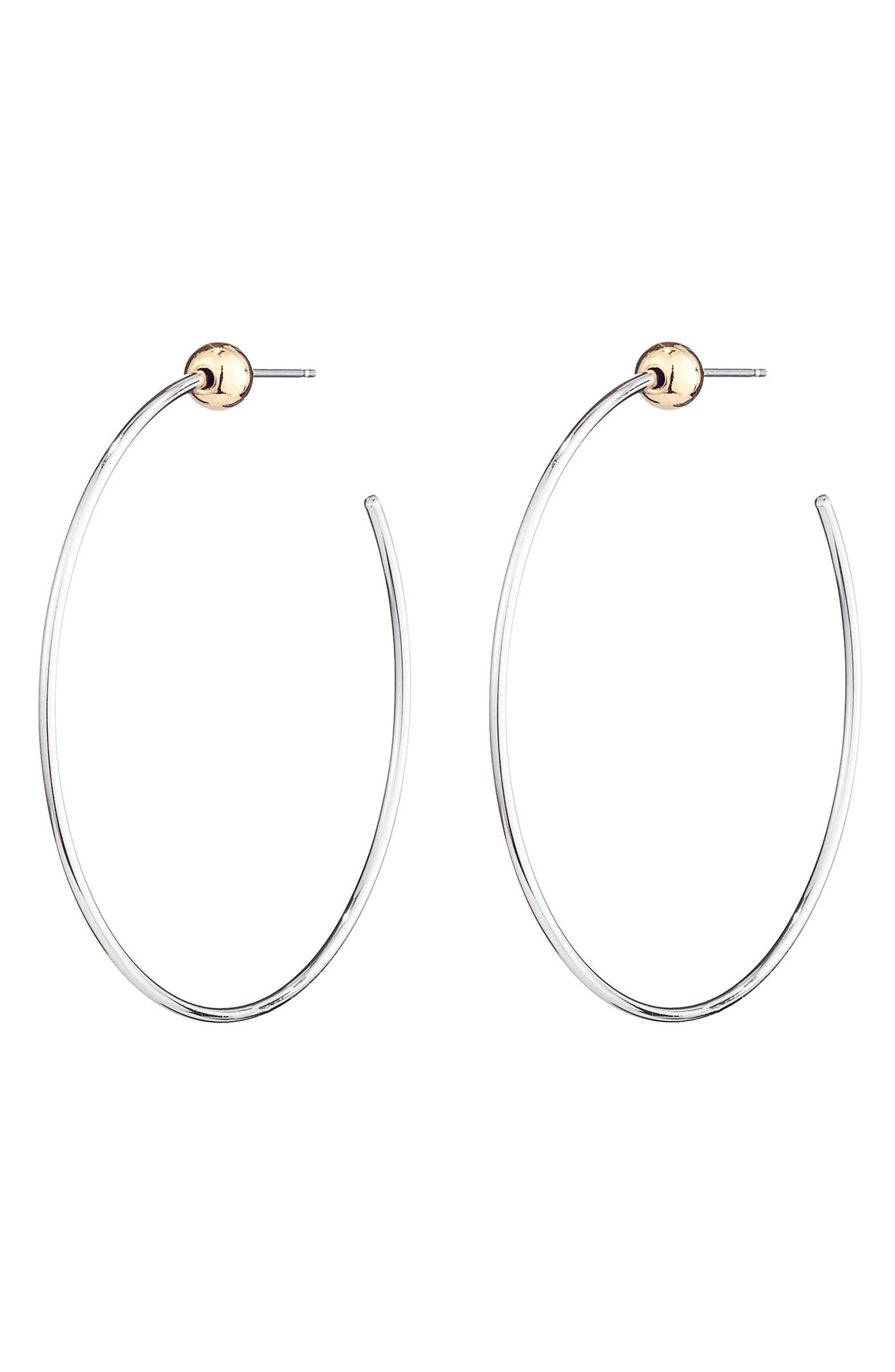 Icon Small Hoop Earrings,                             Main thumbnail 1, color,                             710
