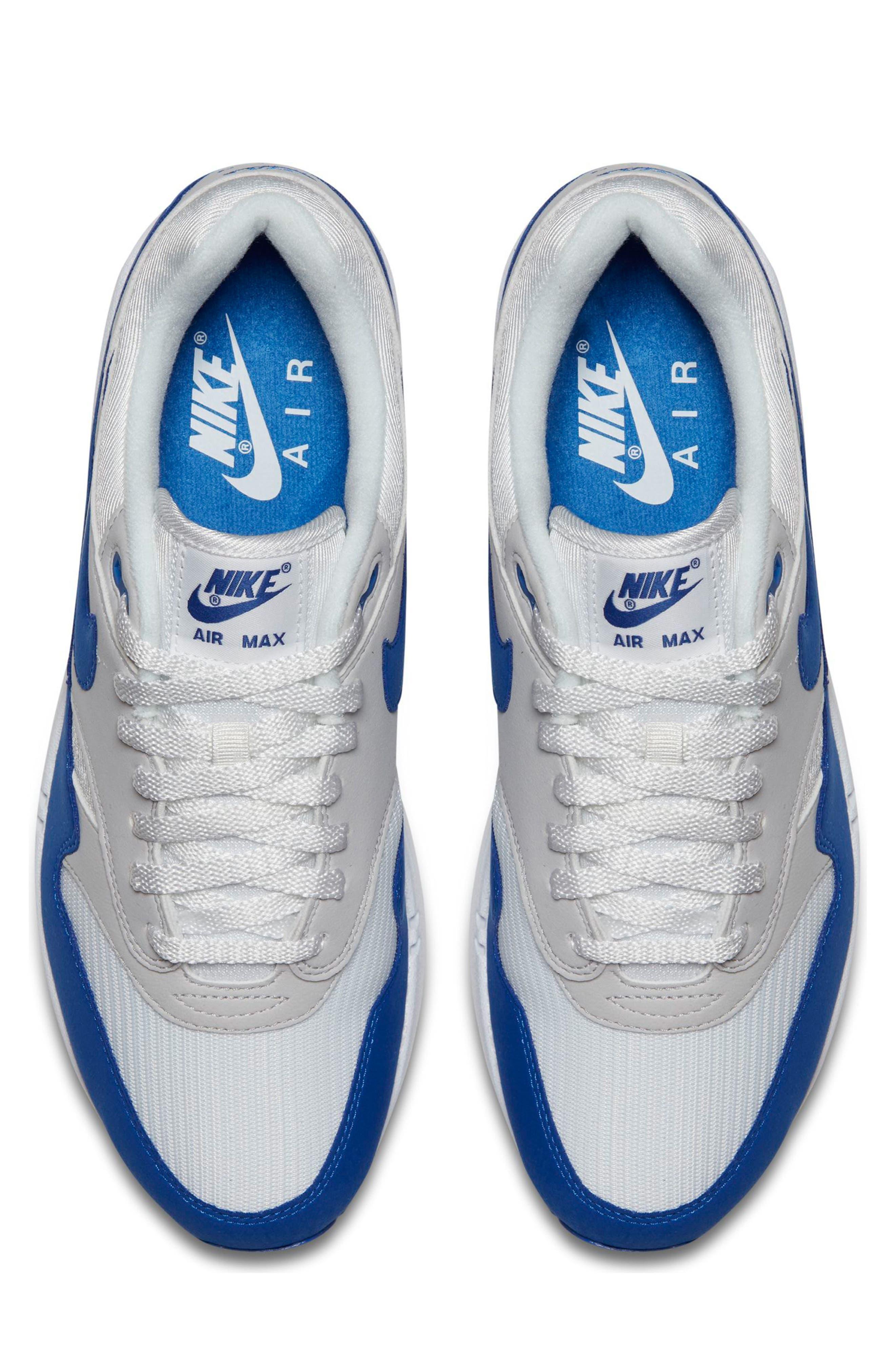 Air Max 1 Anniversary Sneaker,                             Alternate thumbnail 4, color,                             100
