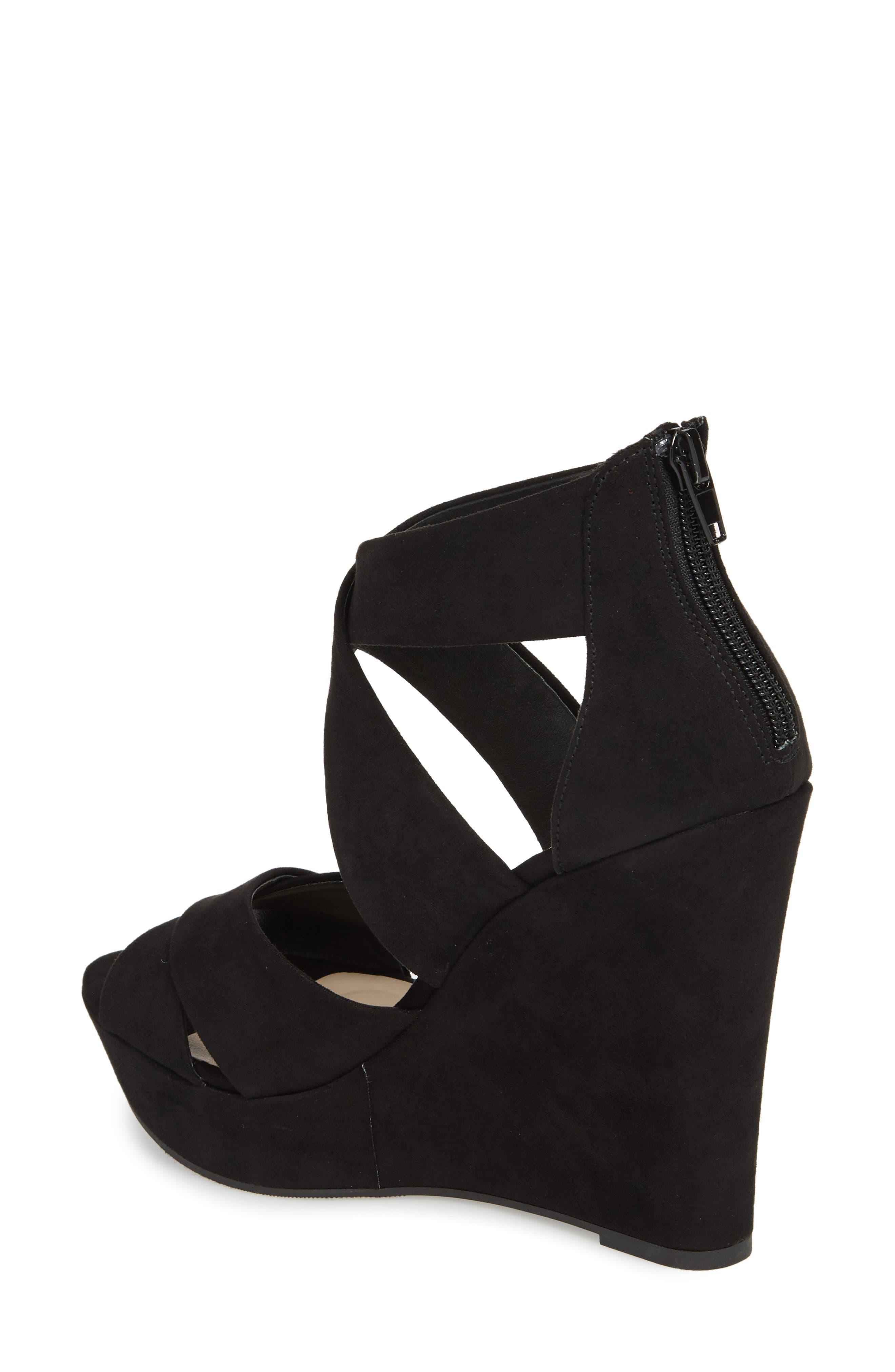 Milani Platform Wedge Sandal,                             Alternate thumbnail 2, color,                             BLACK