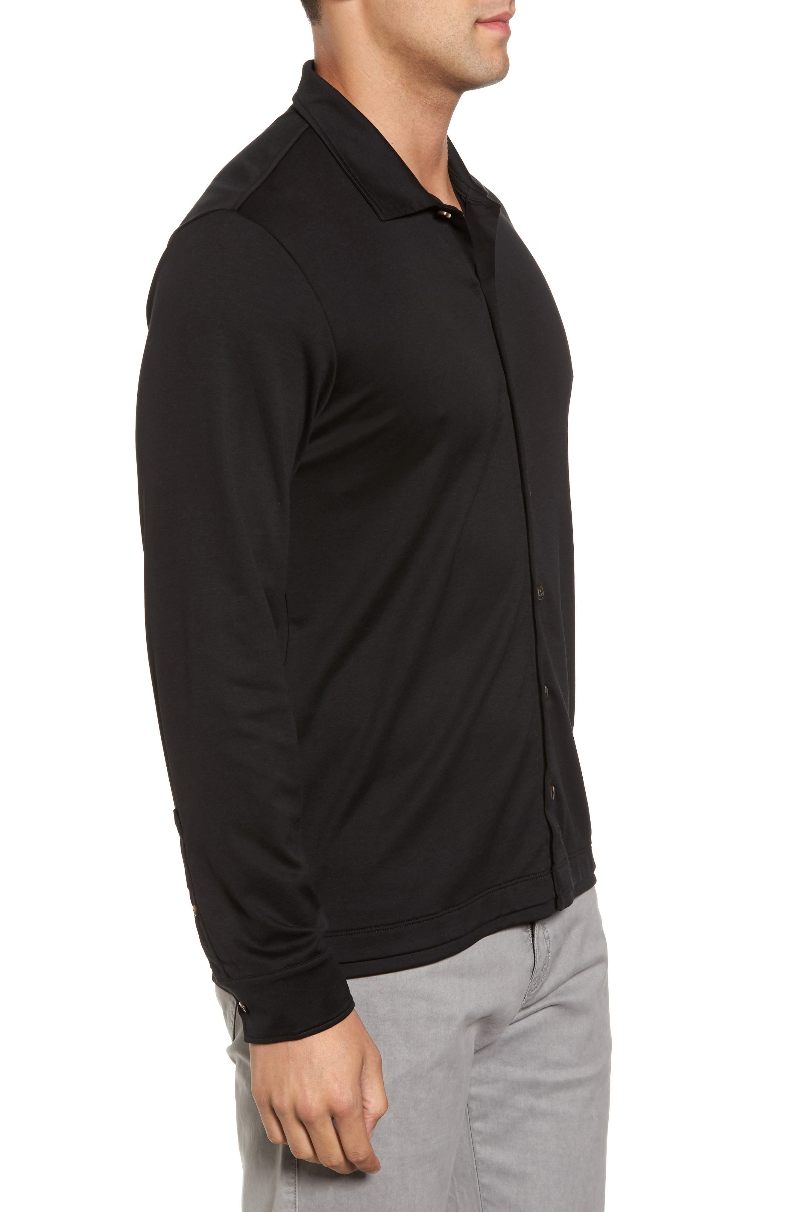 Interlock Knit Sport Shirt,                             Alternate thumbnail 3, color,                             002