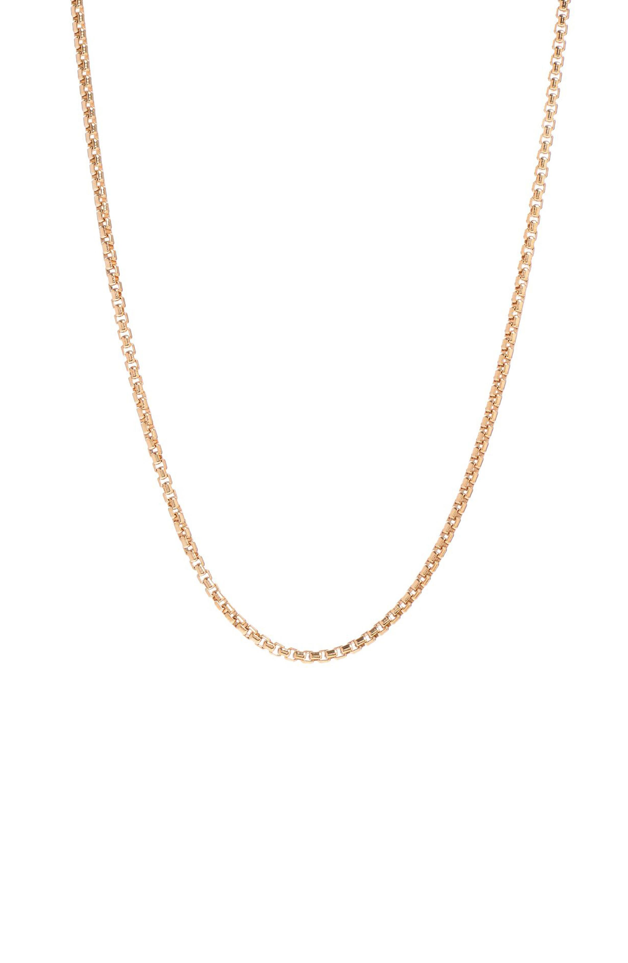 Box Chain Necklace,                         Main,                         color, GOLD