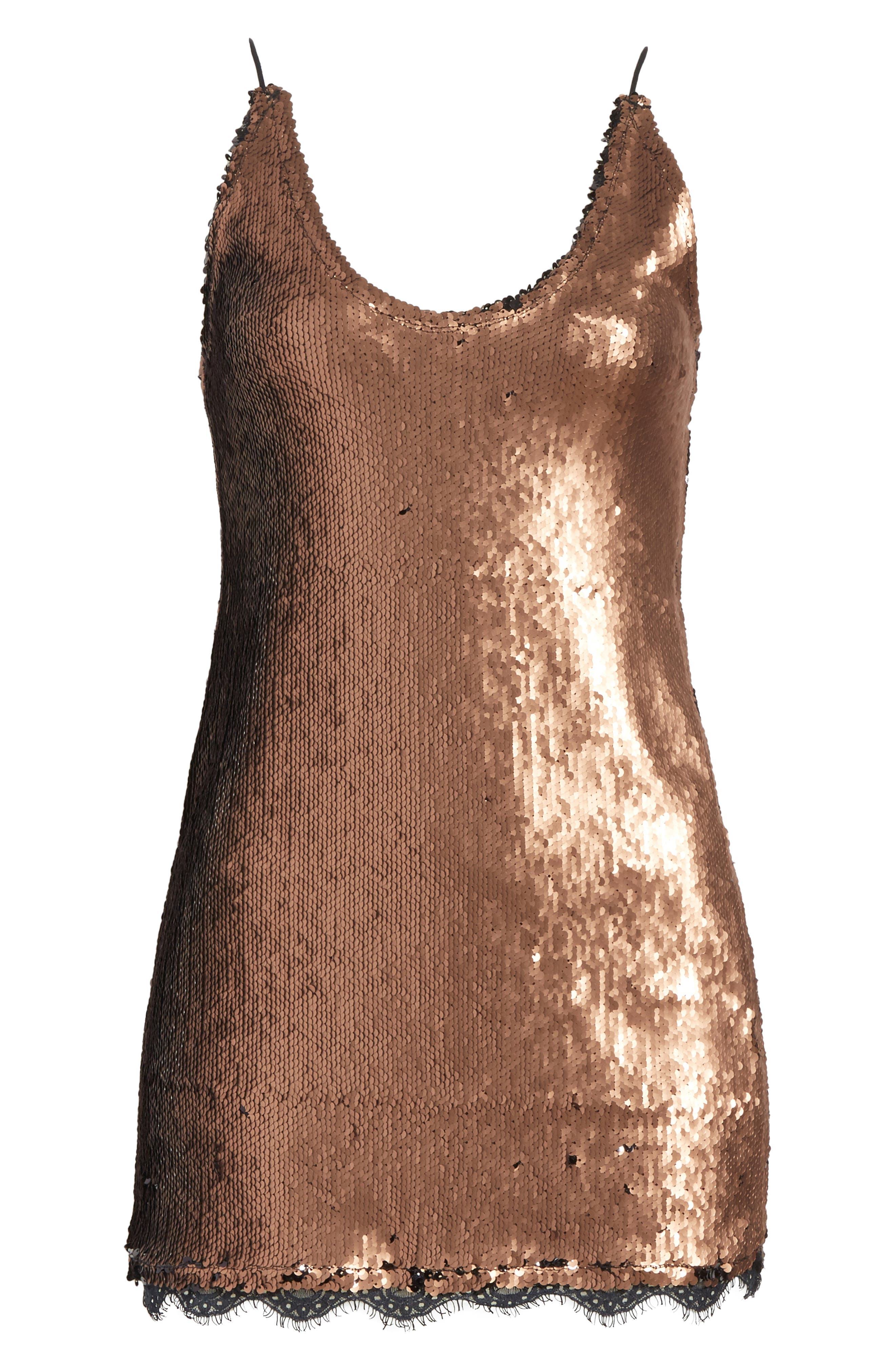Seeing Double Sequin Slipdress,                             Alternate thumbnail 7, color,                             019