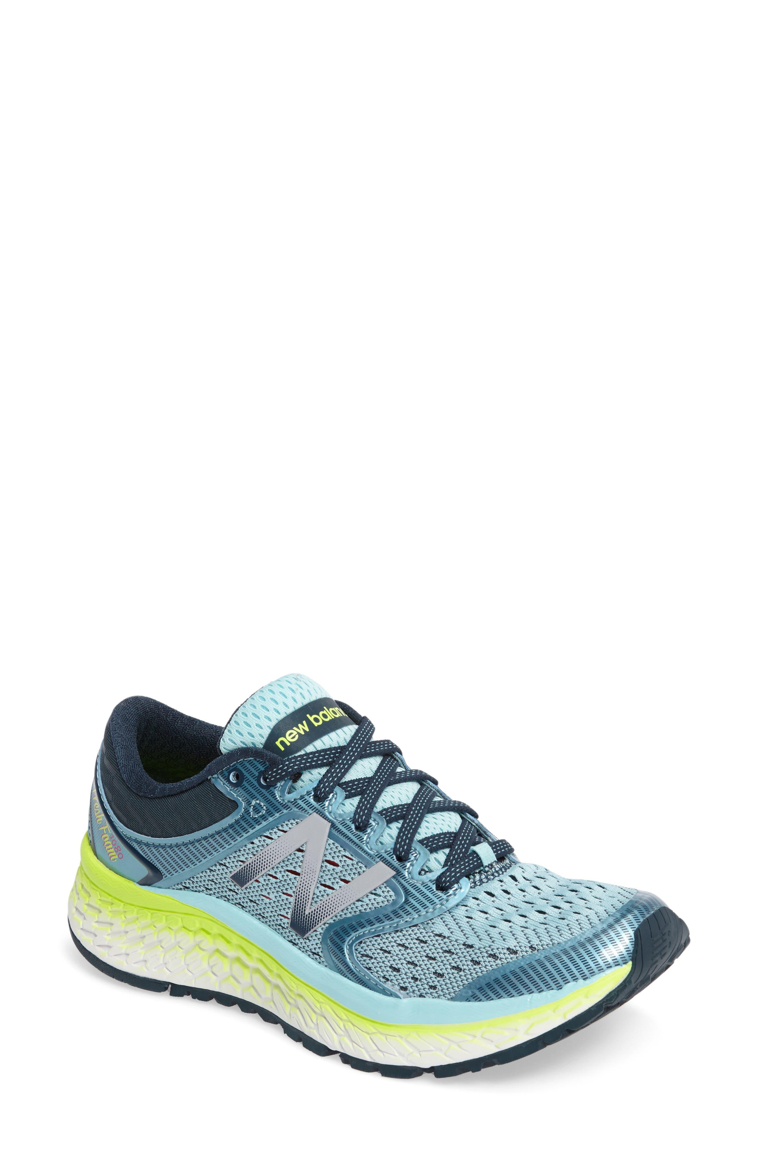 '1080 - Fresh Foam' Running Shoe,                             Main thumbnail 1, color,                             OZONE BLUE GLOW