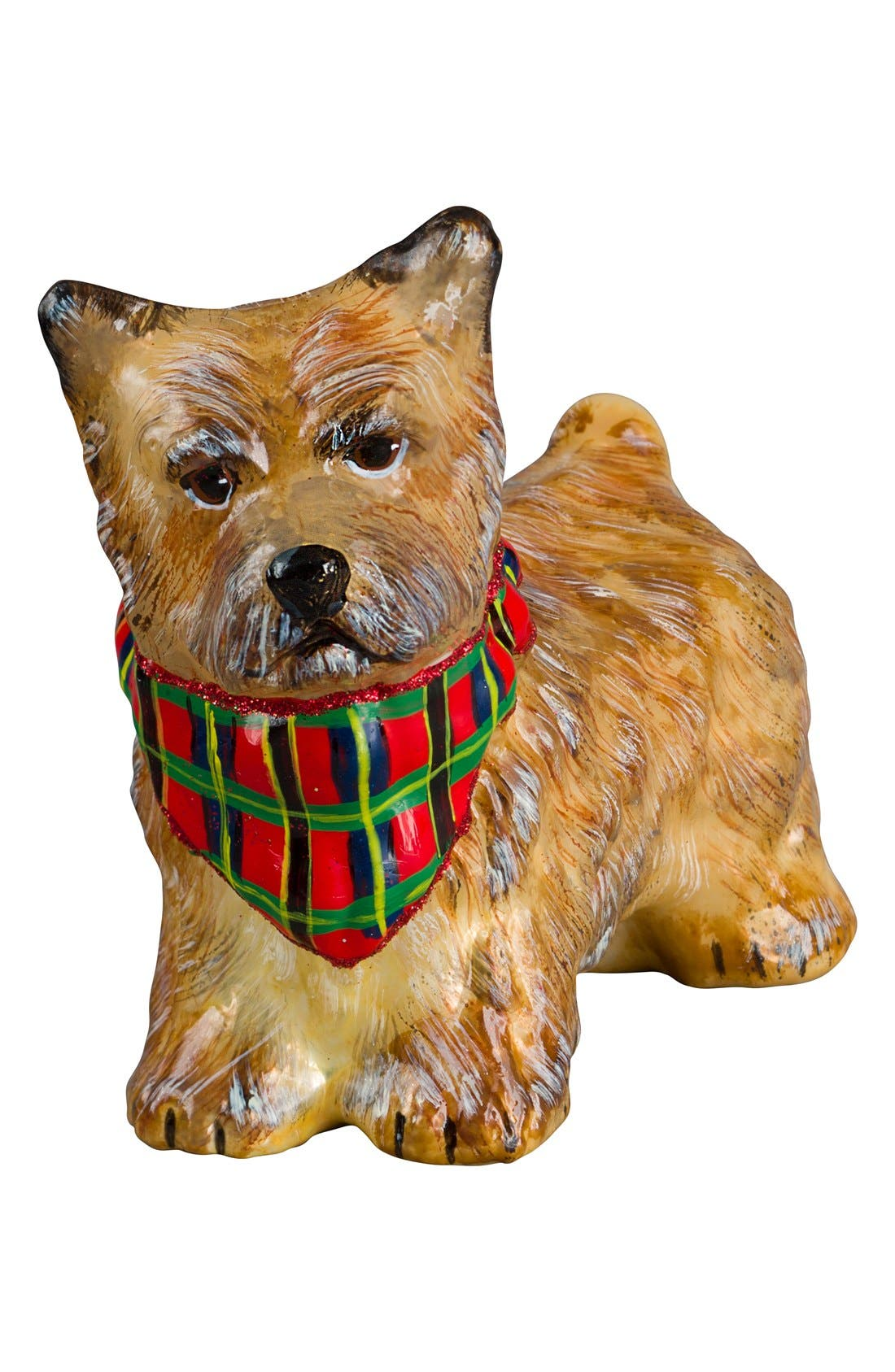 'Dog with Bandana' Ornament,                             Main thumbnail 1, color,                             CAIRN TERRIER