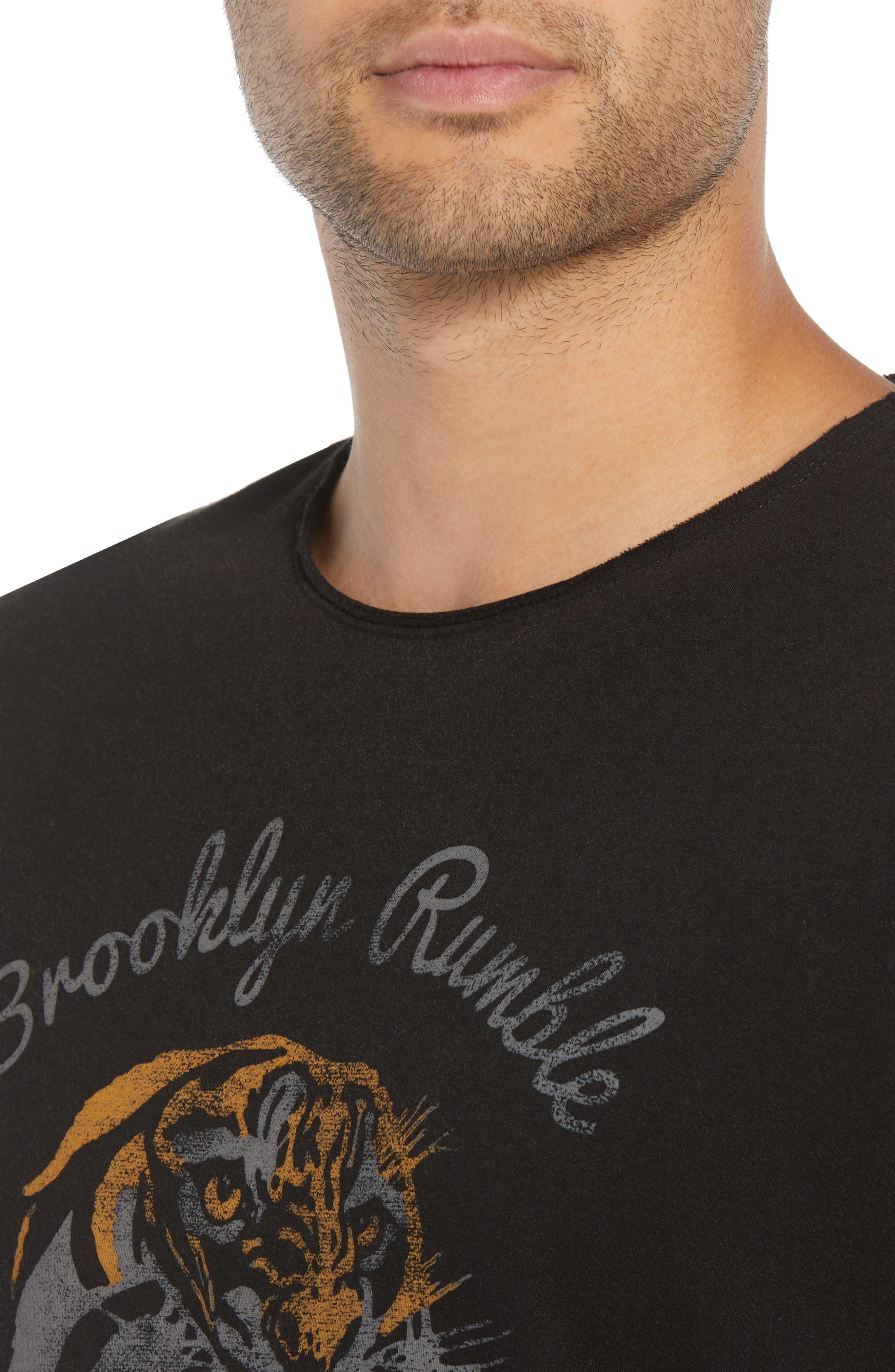 Brooklyn Rumble Graphic T-Shirt,                             Alternate thumbnail 4, color,                             001