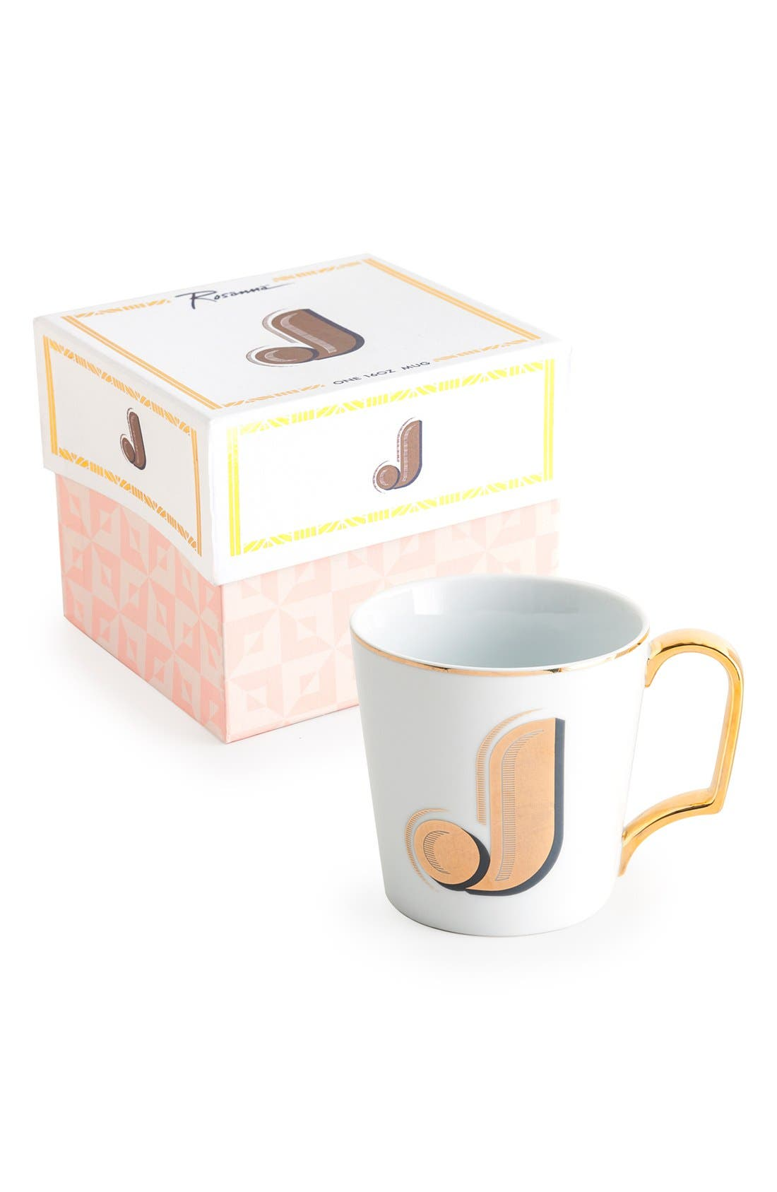 Monogram Porcelain Coffee Mug,                             Main thumbnail 8, color,