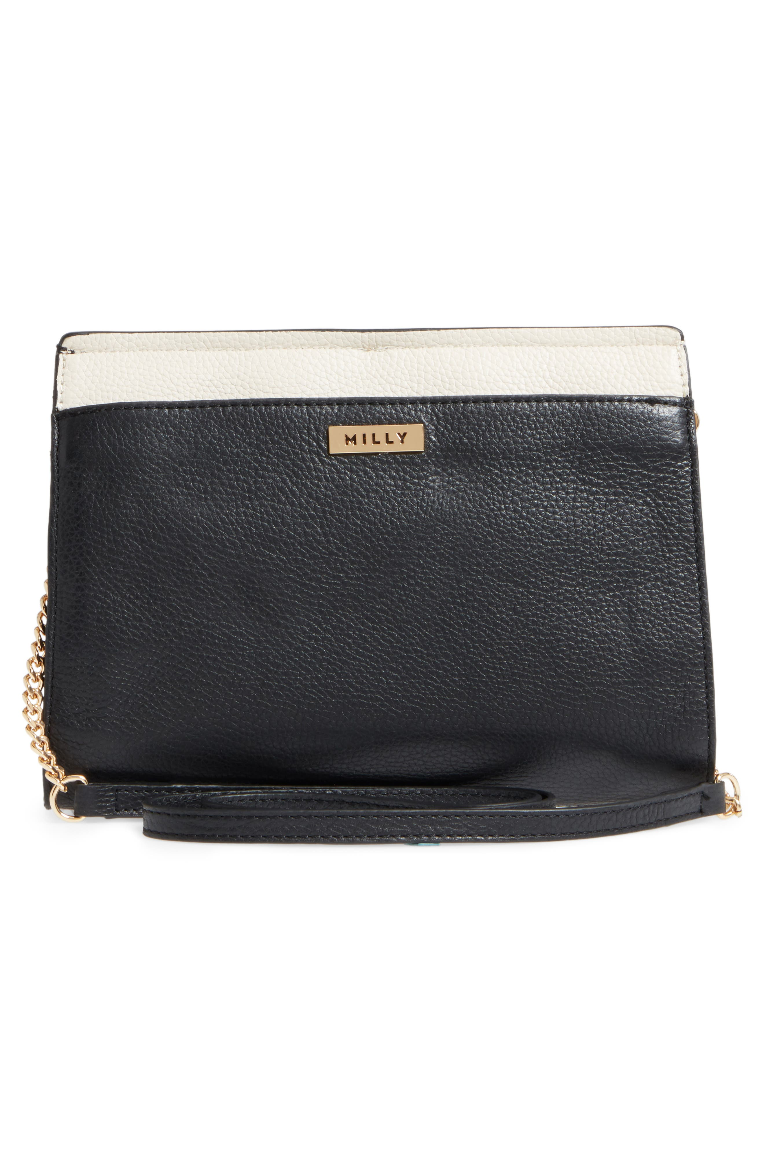 Astor Pebbled Leather Flap Clutch,                             Alternate thumbnail 10, color,